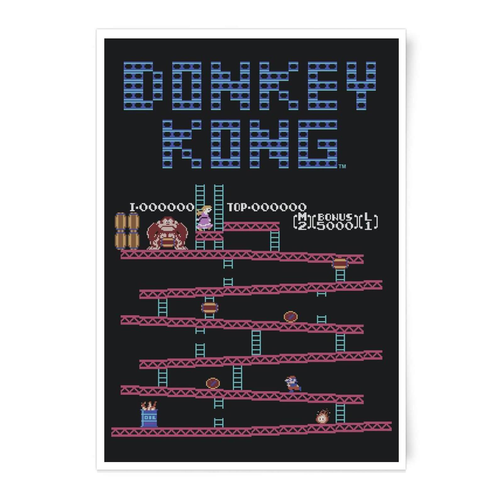 Nintendo Donkey Kong Retro Level Art Print