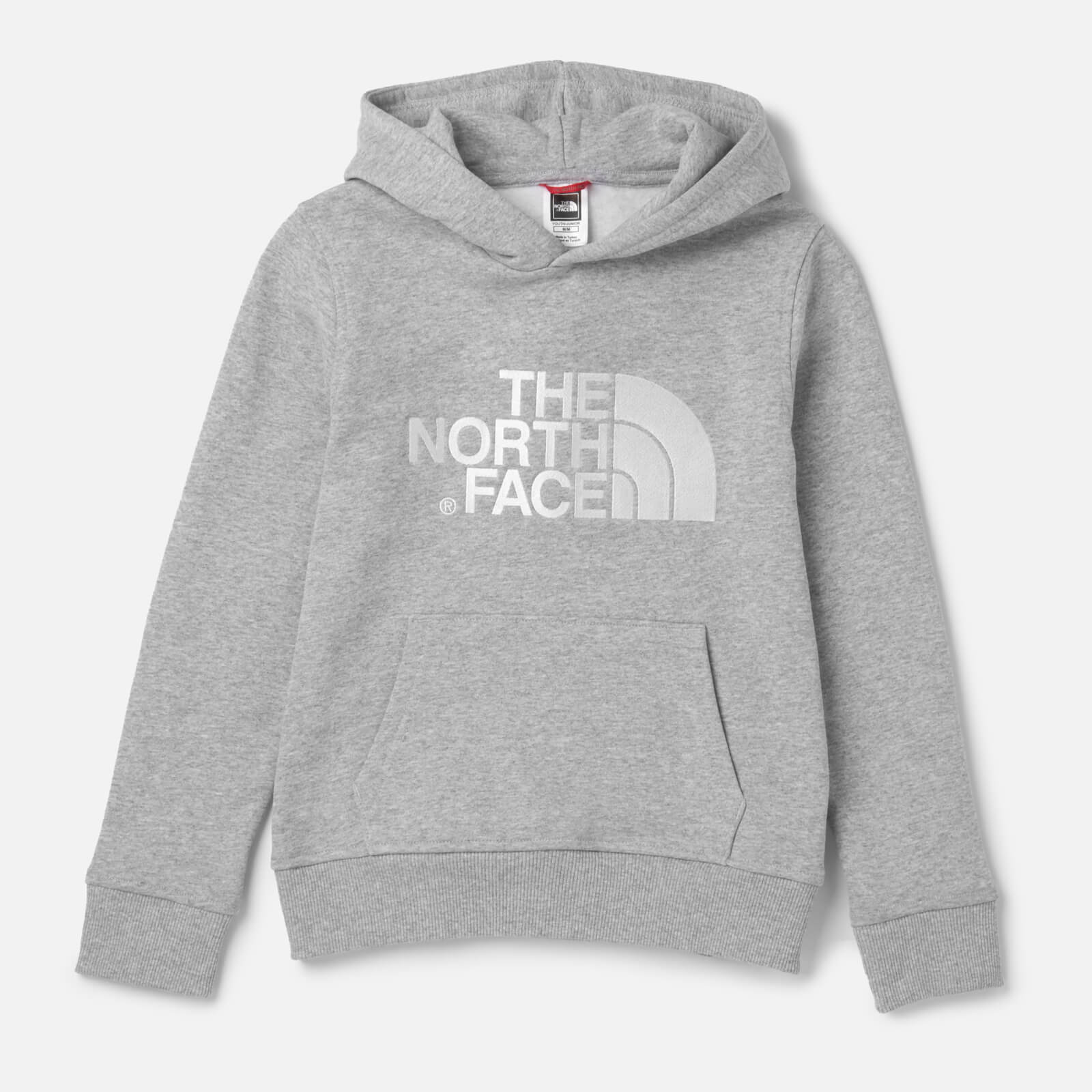 1bc5a2e61 The North Face Kids' Drew Peak Pull Over Hoodie - TNF Light Grey Heather/TNF  White Clothing | TheHut.com
