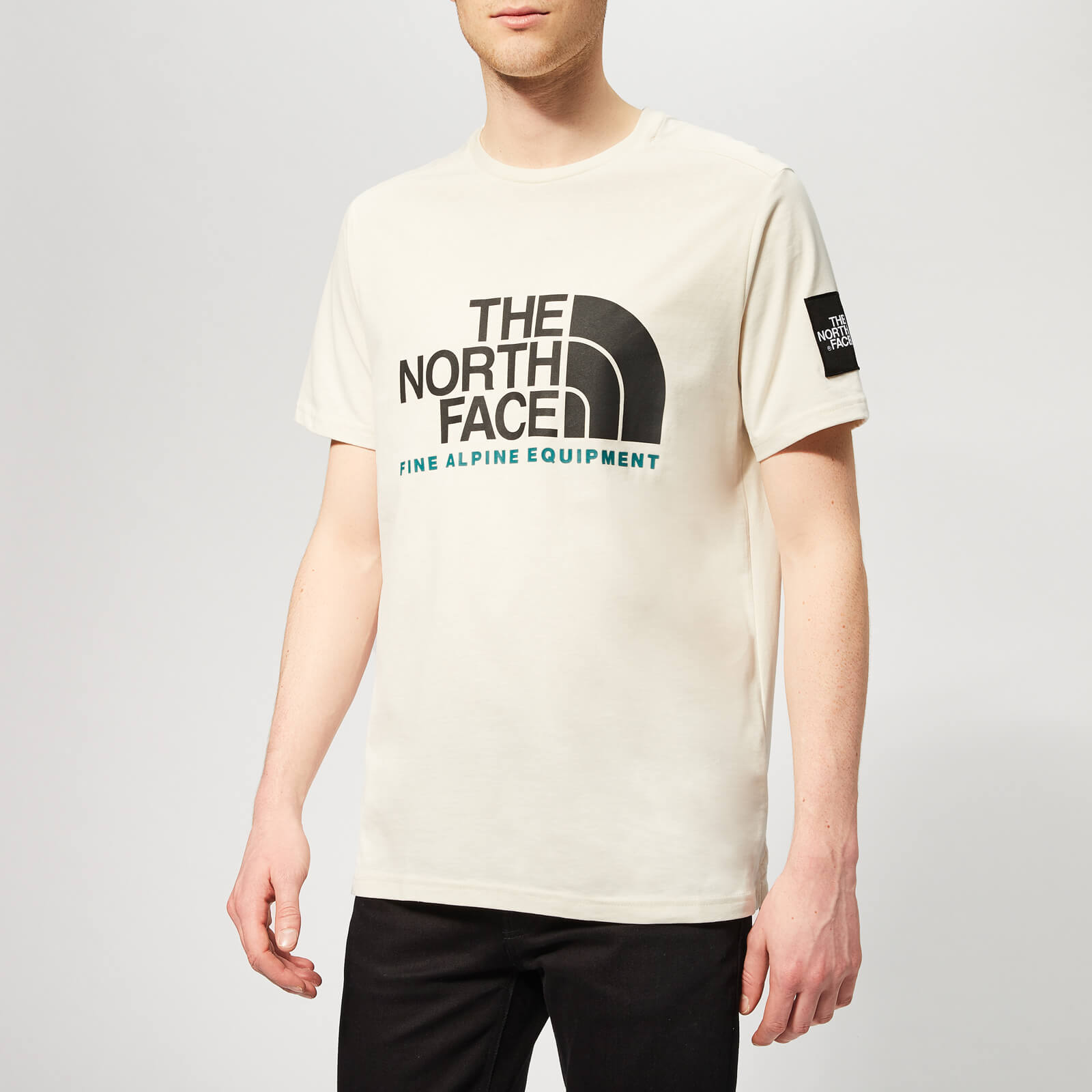 1bf4dff5f The North Face Men's Short Sleeve Fine Alp Equtee T-Shirt - Vintage White