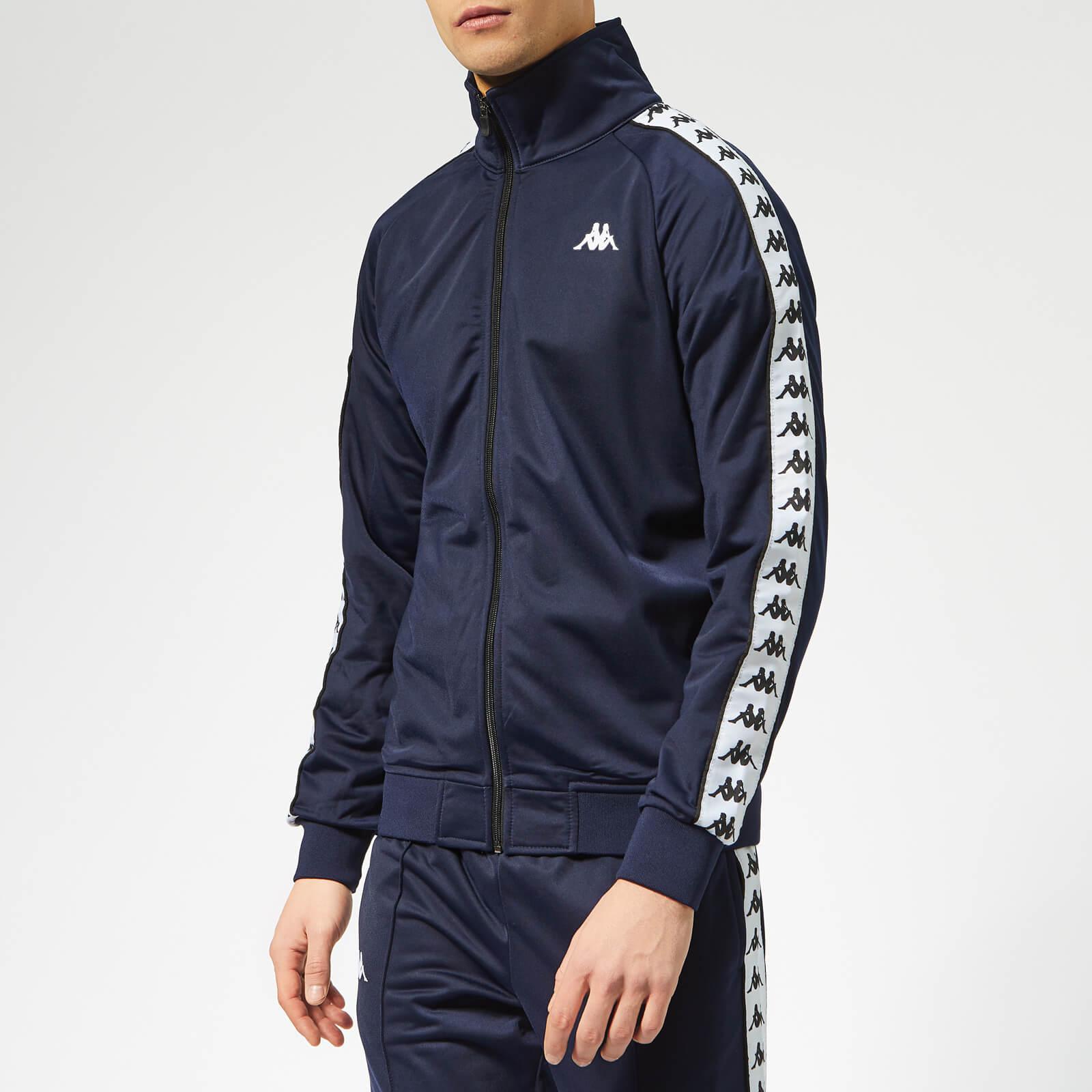 1b5246902af9 Kappa Men s Banda Anniston Track Jacket - Blue Marine White Black Clothing