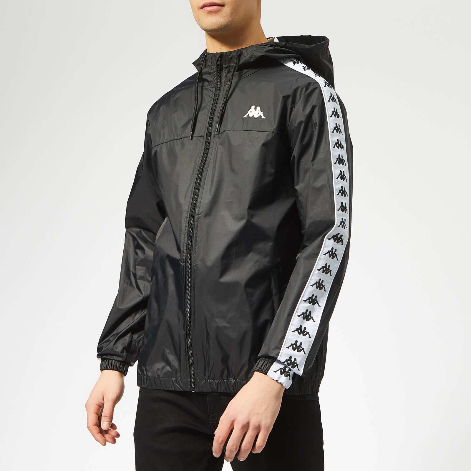 d4c09cb9b Kappa Men's Zip Through Rain Jacket - Black Clothing | TheHut.com