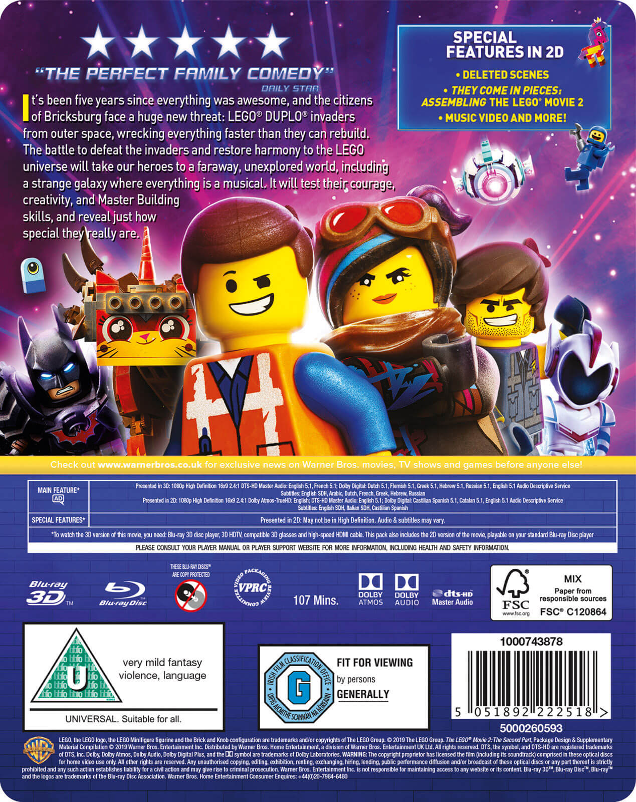 Region Free Blu Ray Uv Copy The Lego Movie 2014