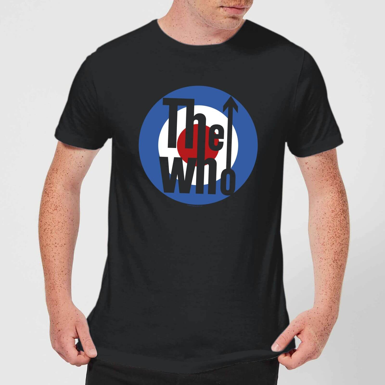 01e5f4f4c6 The Who Target Men s T-Shirt - Black Clothing