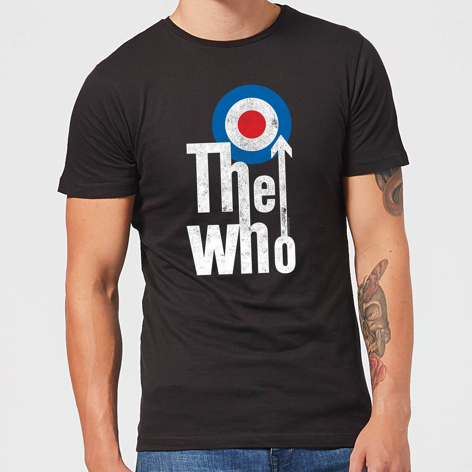 4cb673390e The Who Target Logo Men s T-Shirt - Black Clothing