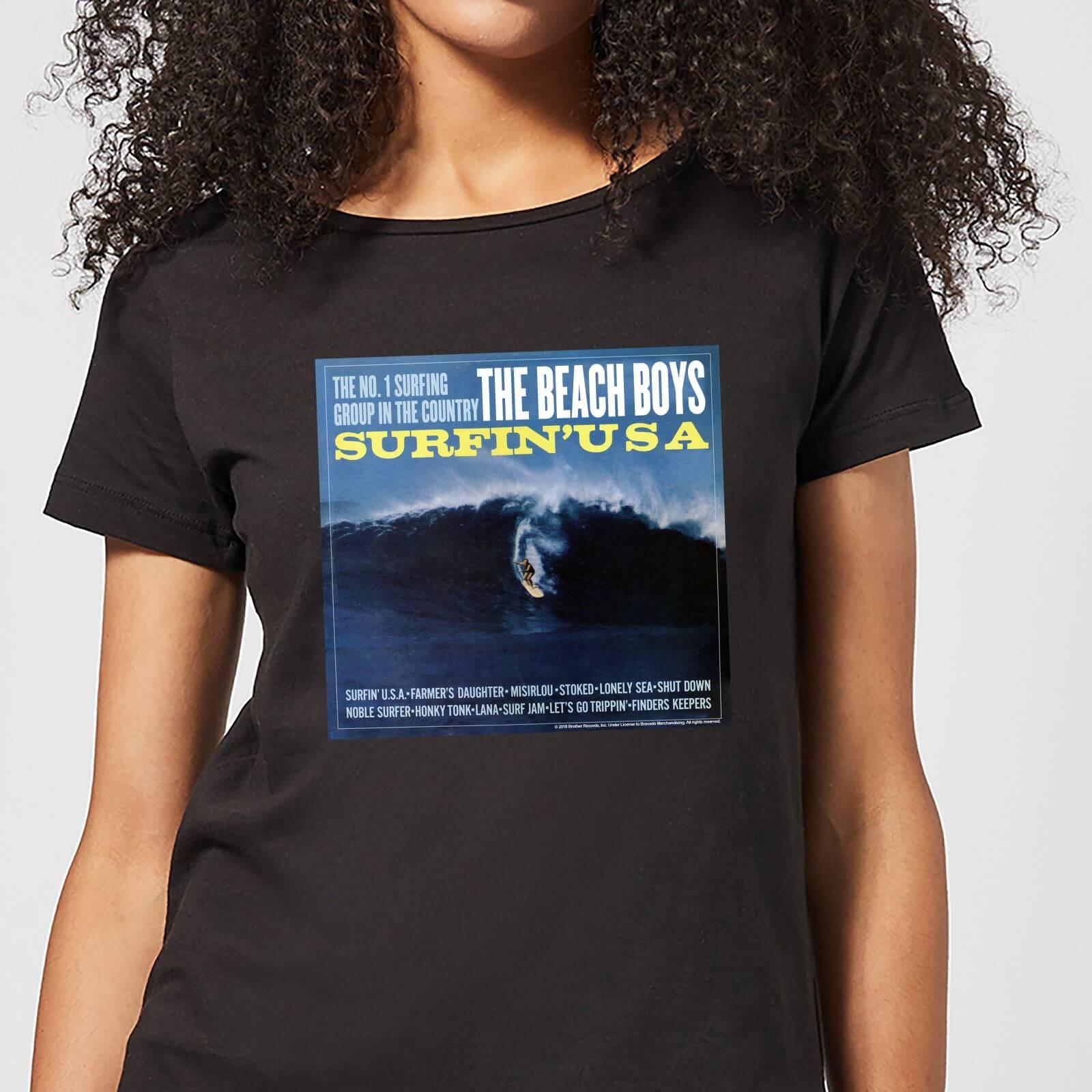 fa303f2a The Beach Boys Surfin USA Women's T-Shirt - Black Clothing | Zavvi