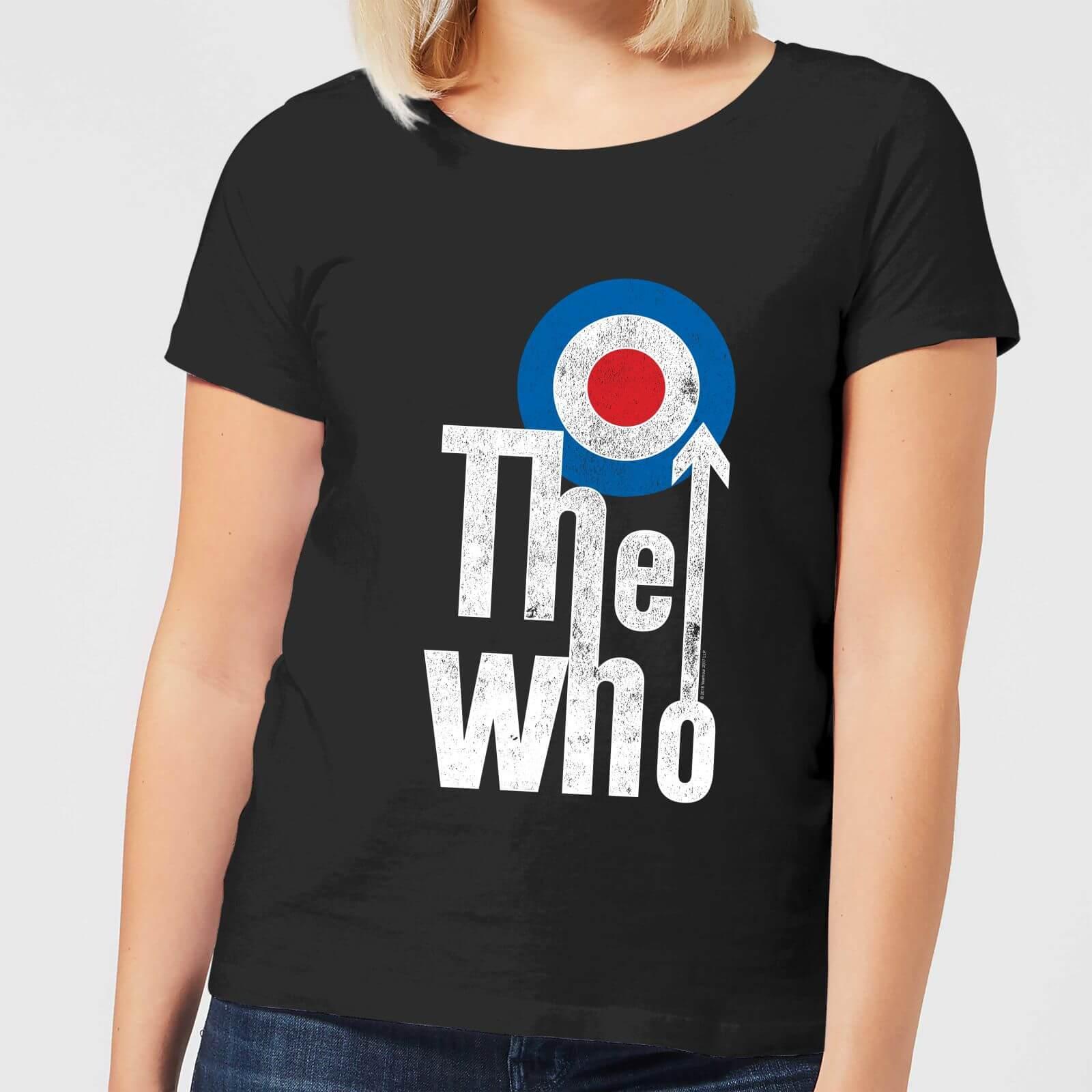 new concept 611d7 4f390 The Who Target Logo Women's T-Shirt - Black