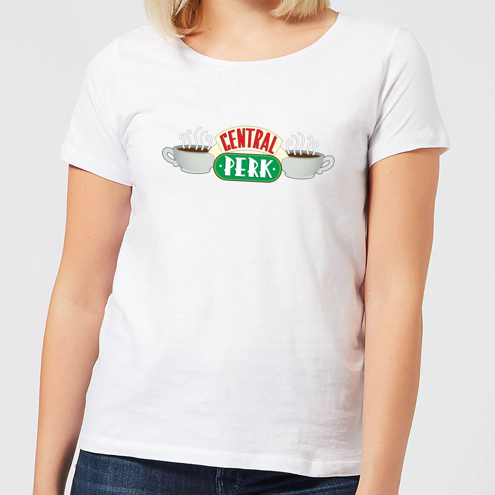 30bbdd460ab99 Friends Central Perk Women's T-Shirt - White Clothing | Zavvi