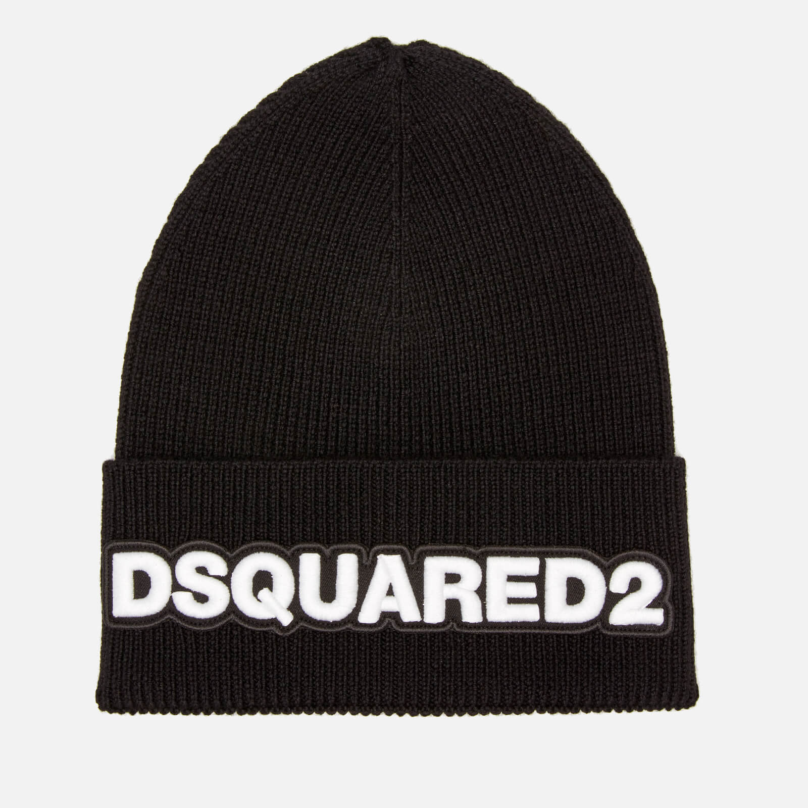 a1a67286ef6ebc Dsquared2 Men's Dsquared Knit Hat - Black/White - Free UK Delivery over £50