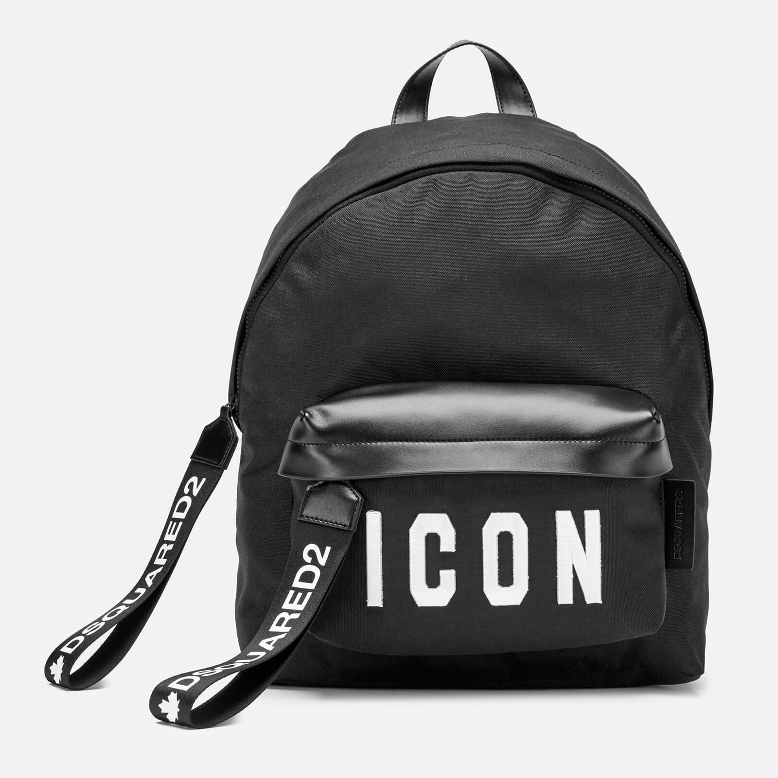 1ab97f7b69c6 Dsquared2 Men s Icon Backpack - Black White - Free UK Delivery over £50