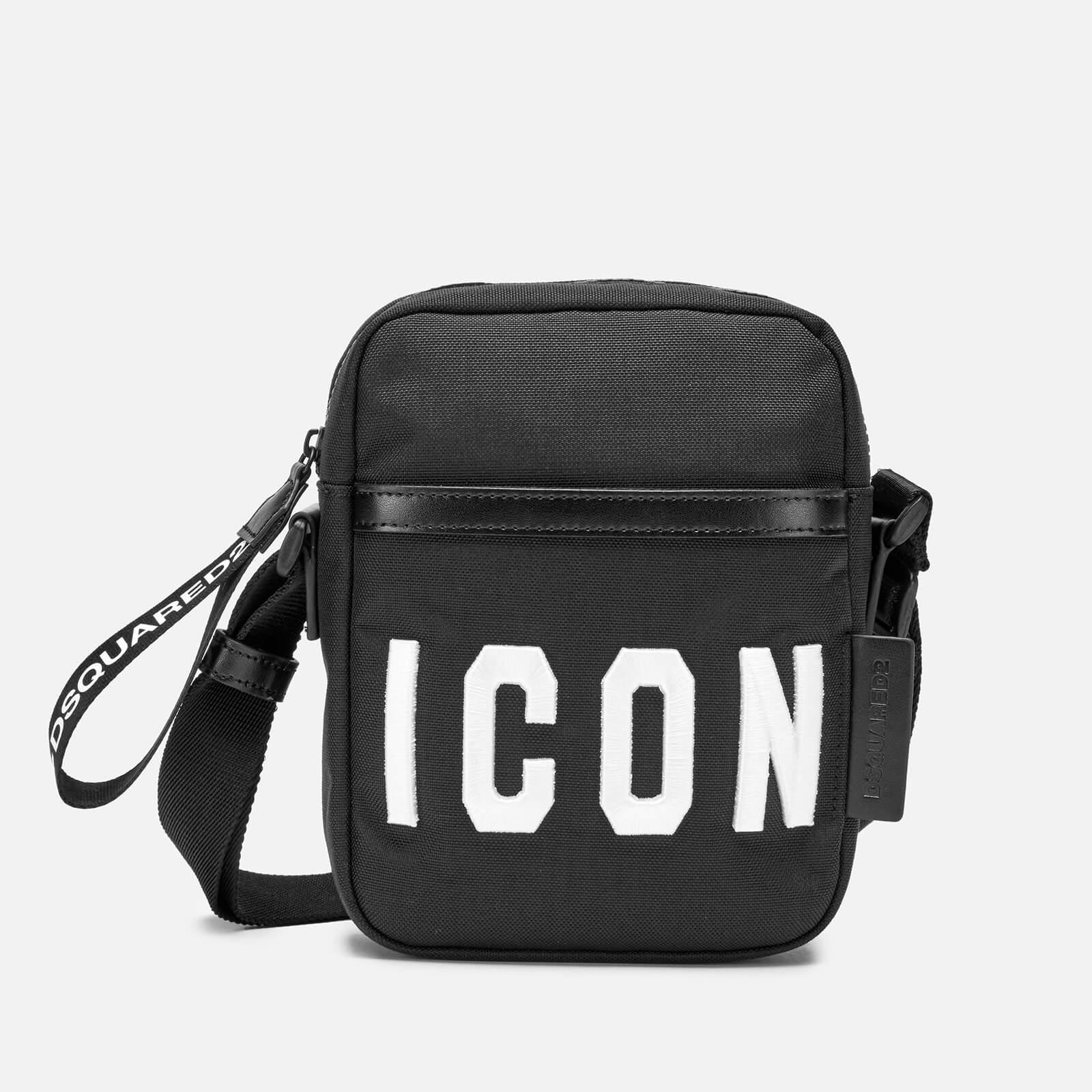0c910f5e727a48 Dsquared2 Men's Icon Cross Body Bag - Black/White - Free UK Delivery over  £50