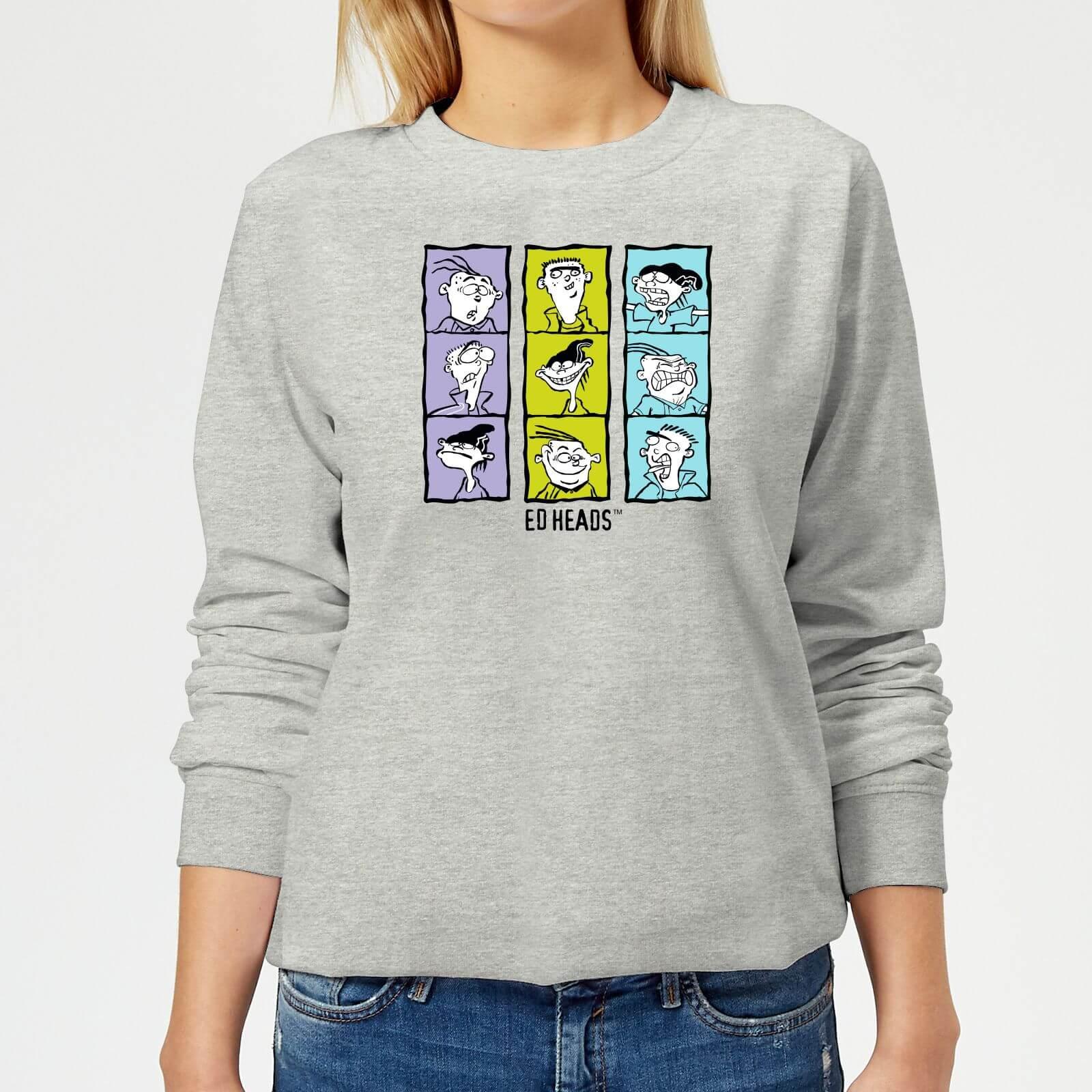 Ed, Edd n Eddy Heads Women's Sweatshirt - Grey