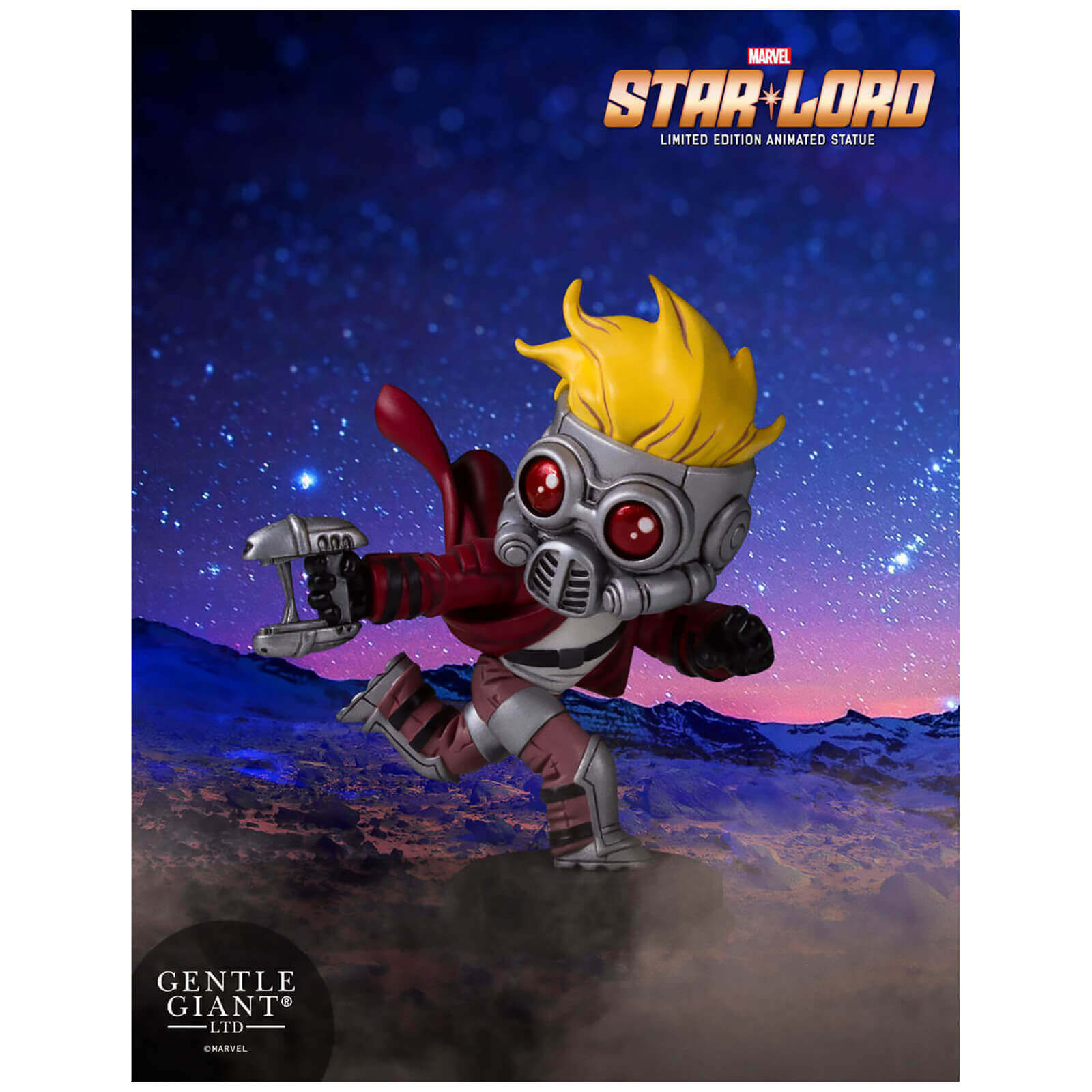 Gentle Giant Star Lord Animated Guardians of the Galaxy Marvel Statue New