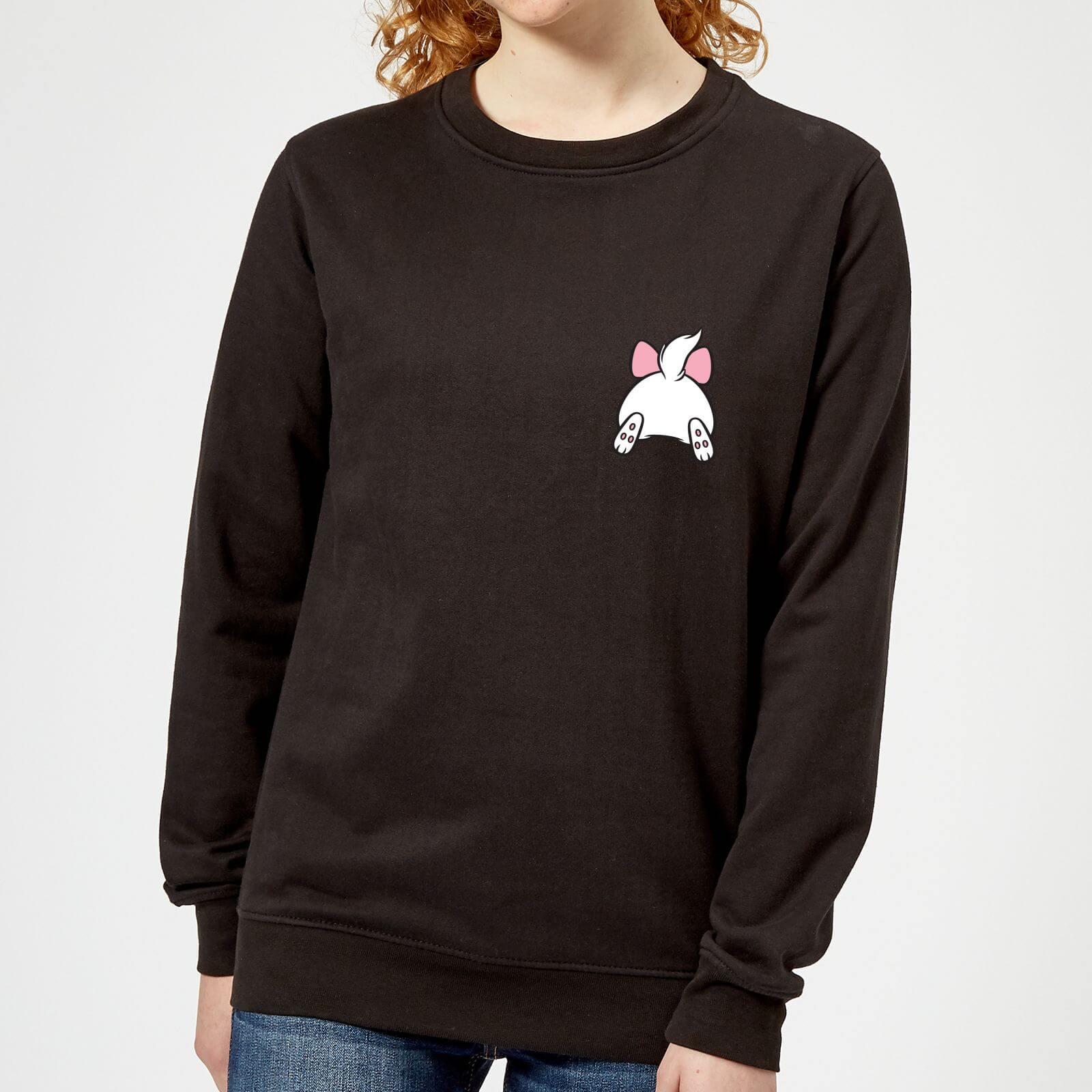 Disney Marie Backside Women's Sweatshirt Black
