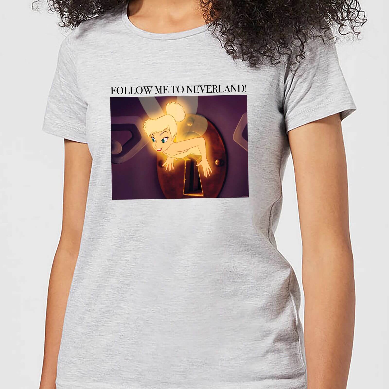 immer beliebt online Shop Sonderteil Disney Tinkerbell Follow Me To Neverland Damen T-Shirt - Grau