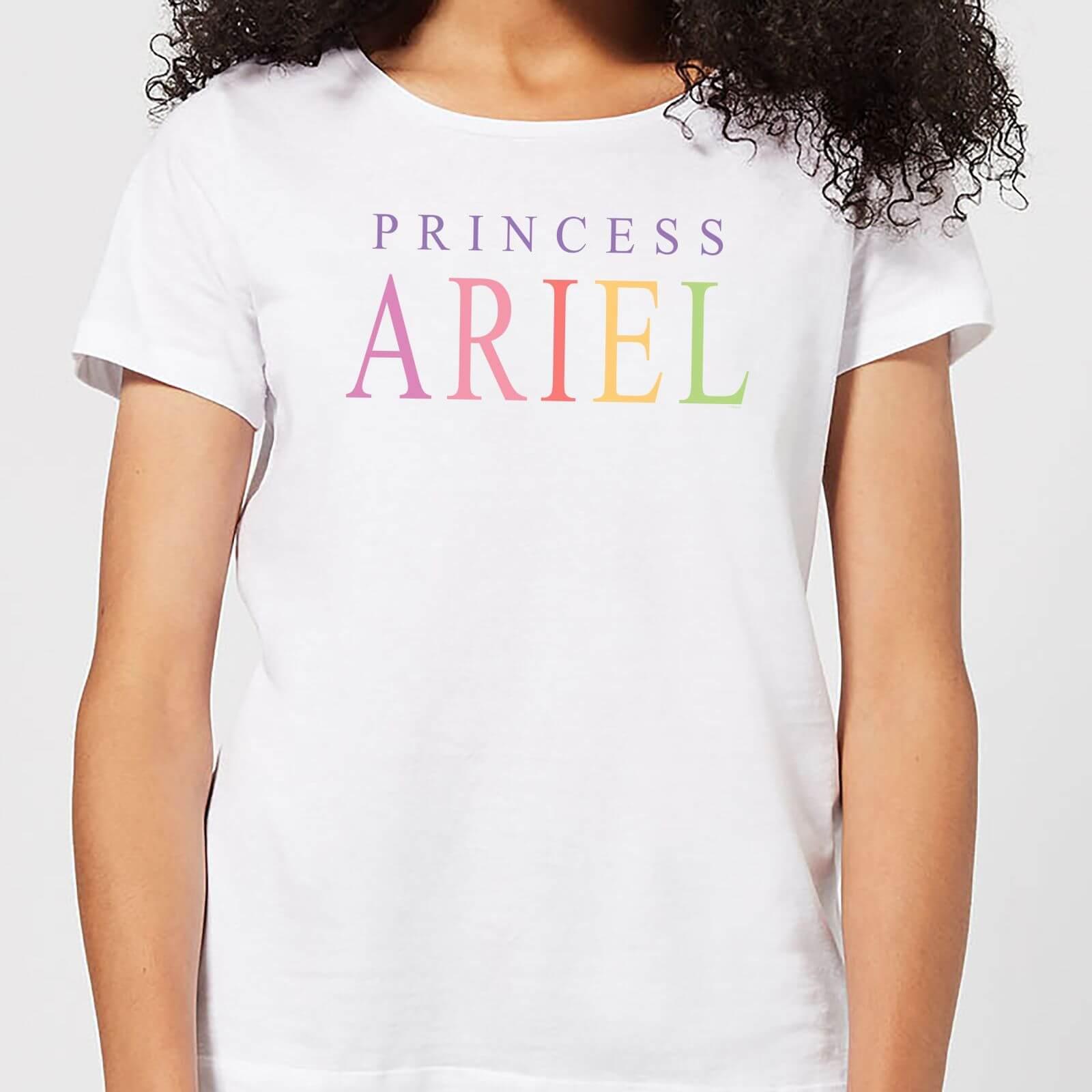 6d535ddc Disney Little Mermaid Princess Ariel Women's T-Shirt - White   Pop In A Box  UK
