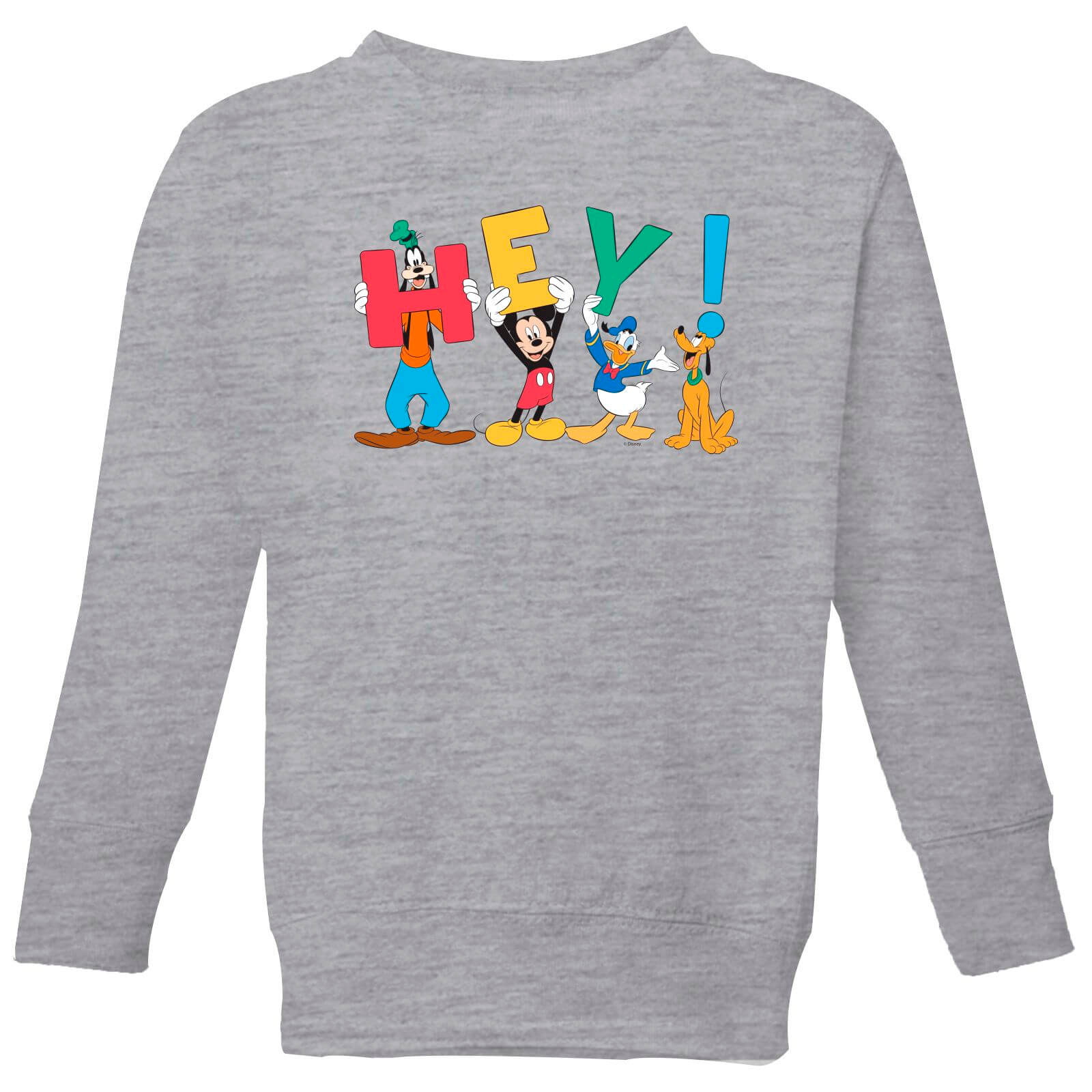 Disney Mickey Mouse Hey! Kinder Sweatshirt Grau