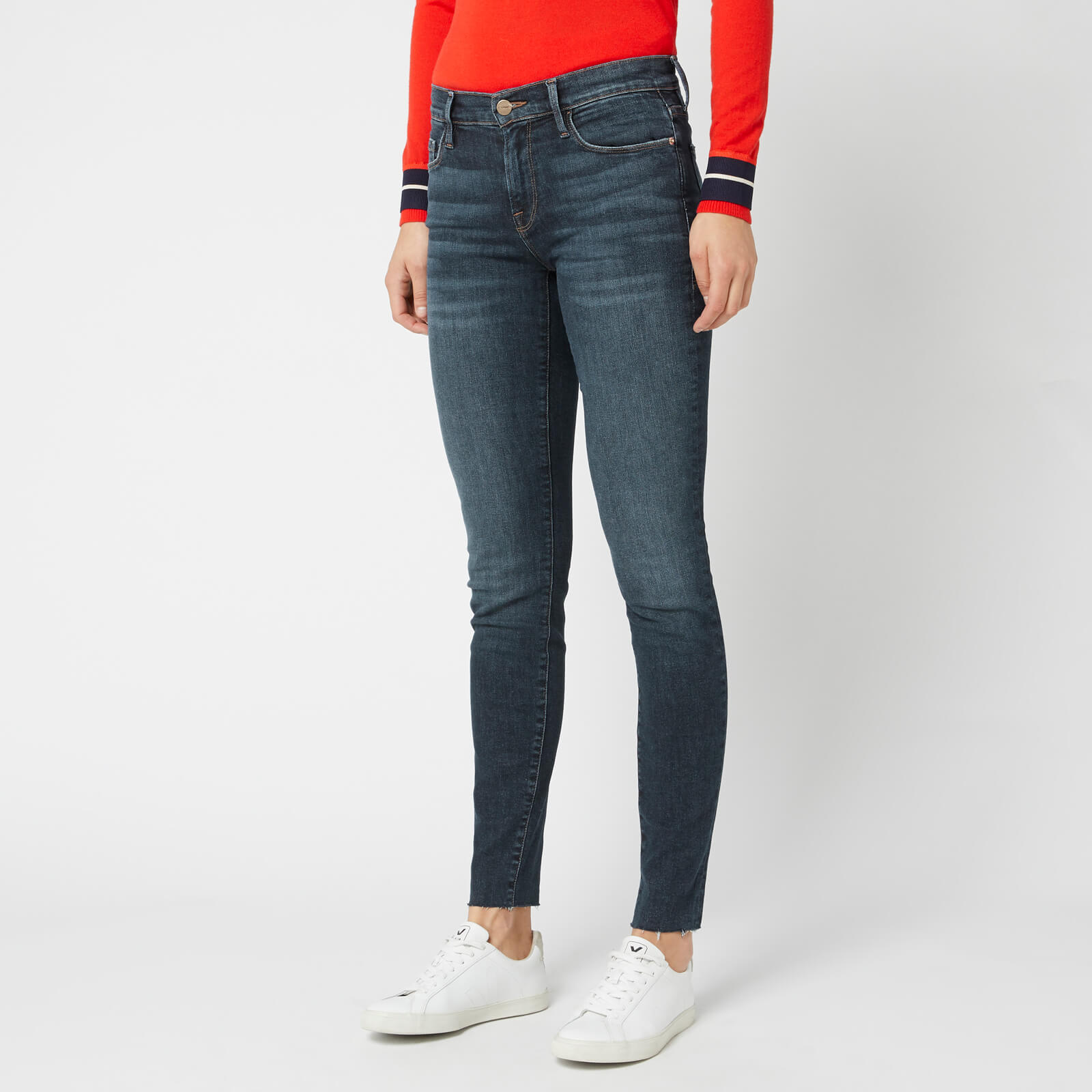 c7022927 Frame Women's Le Skinny De Jeanne Raw Edge Jeans - Remi - Free UK Delivery  over £50