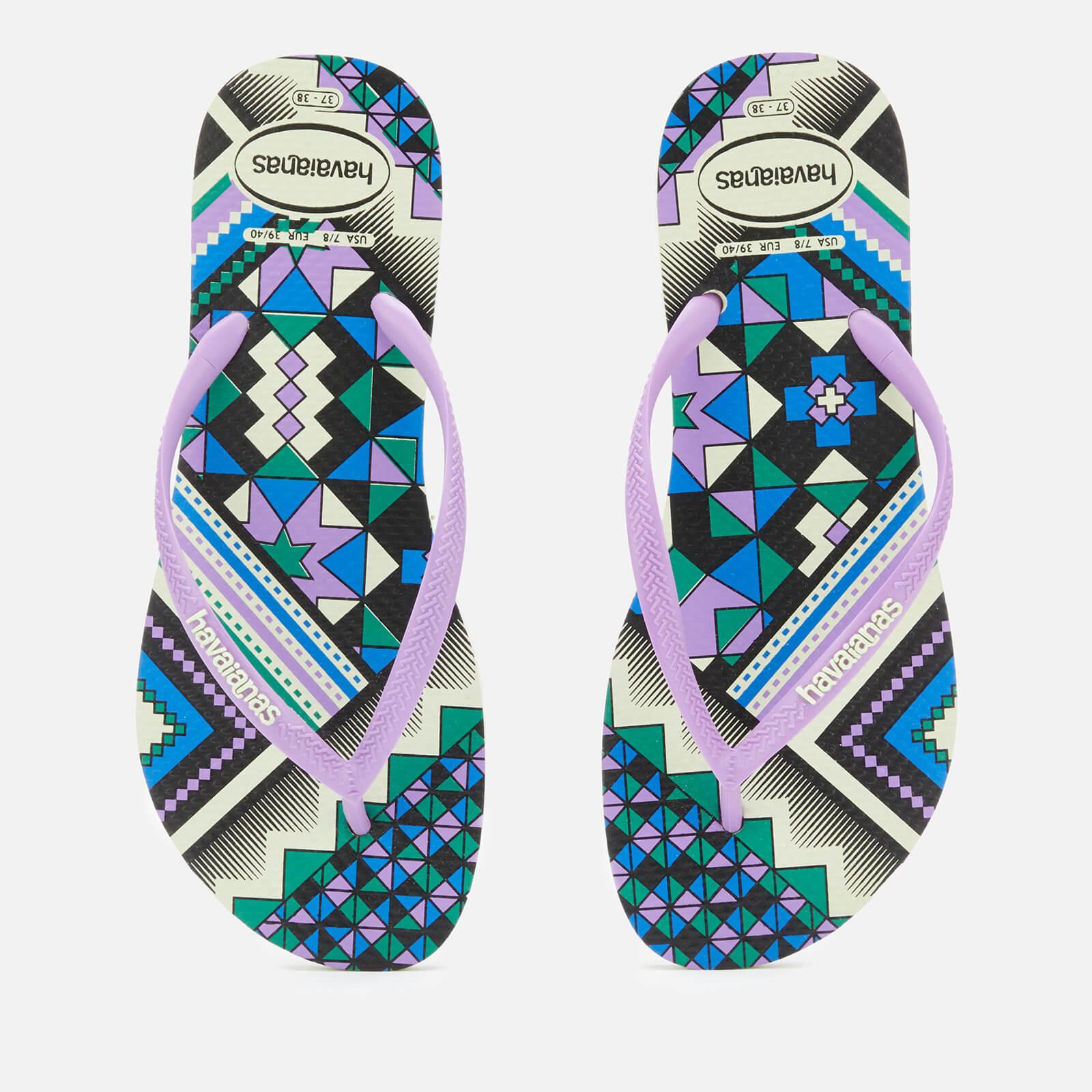 625d8581b Havaianas Women s Slim Tribal Flip Flops - Apple Green Womens Footwear