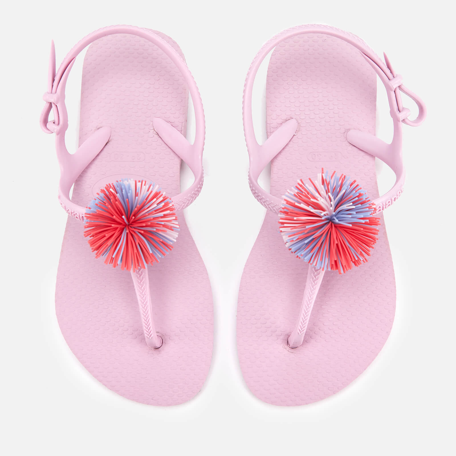 877336c40391f Havaianas Kids  Freedom SL Pompom Sandals - Rose Quartz Junior Clothing