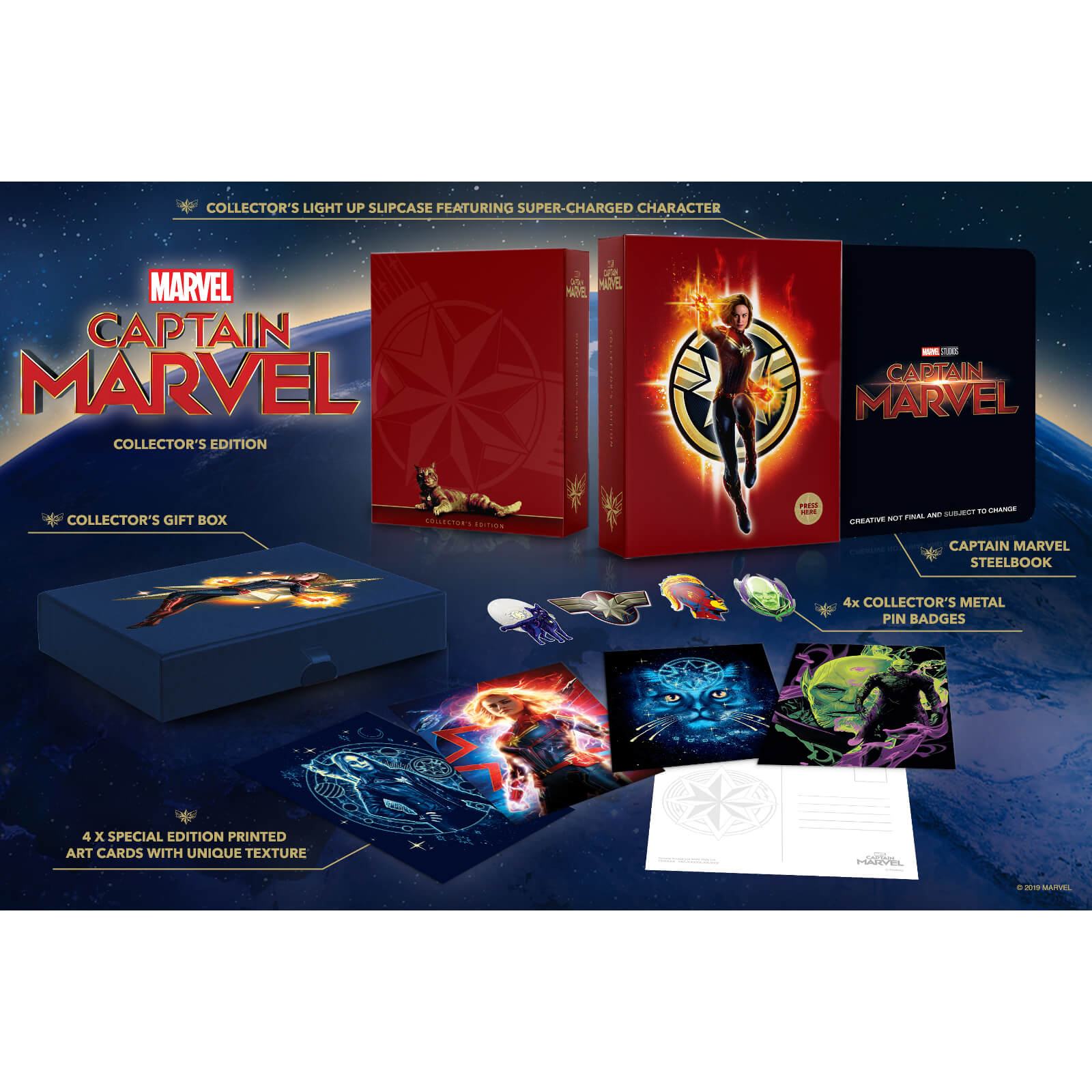 Captain Marvel 4K Ultra HD Zavvi Exclusive Collector's Edition Steelbook  (Includes 2D Blu-ray)