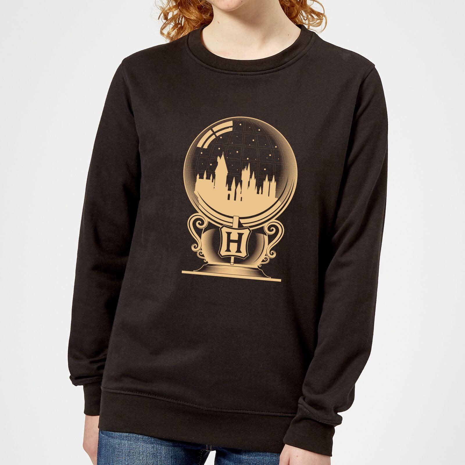 a5879e762 Harry Potter Hogwarts Snowglobe Women's Sweatshirt - Black Clothing   Zavvi
