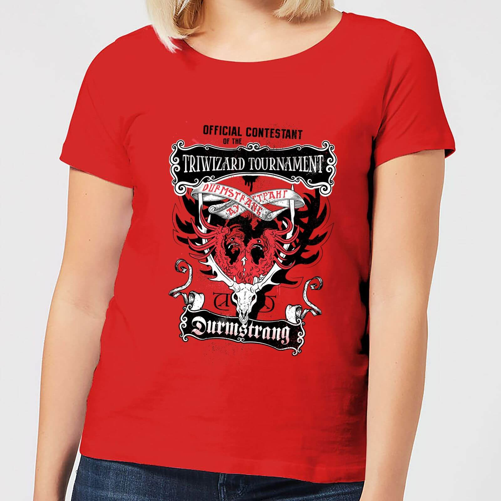 Harry Potter Triwizard Tournament Durmstrang Women S T Shirt Red My Geek Box Us The whole durmstrang contingent seems to have gathered around the front entrance. my geek box