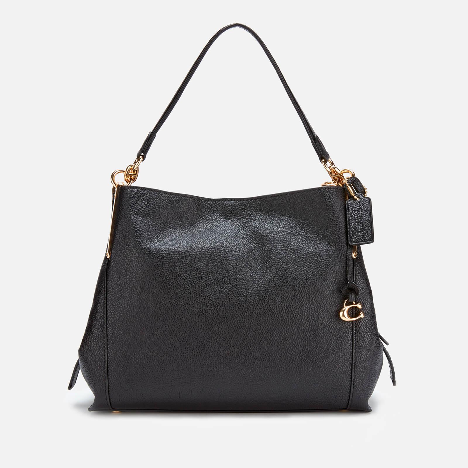 795035dab2 Coach Women's Polished Pebble Leather Dalton 28 Shoulder Bag - Black