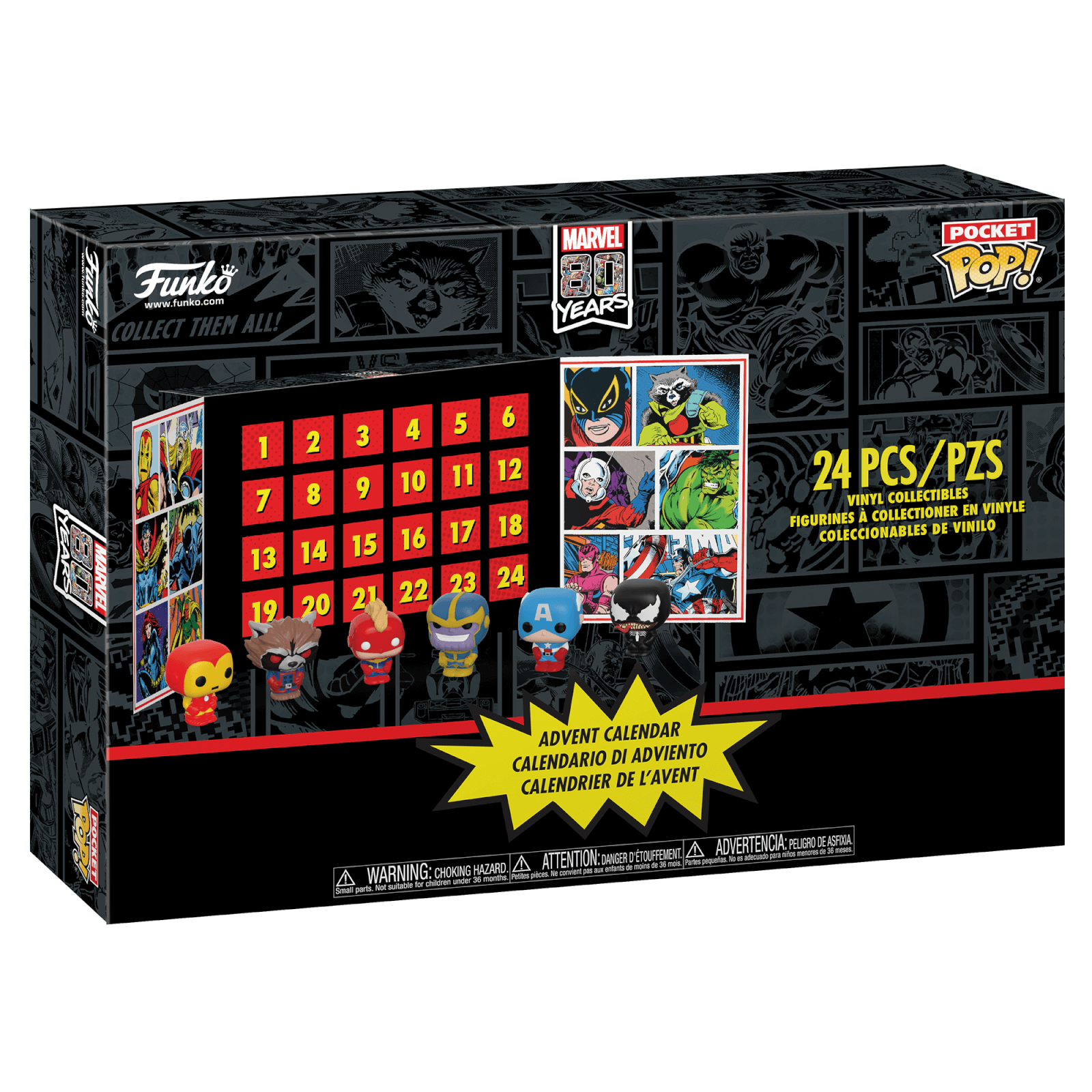 Calendrier Star Wars 2019.Marvel Pop Advent Calendar 2019