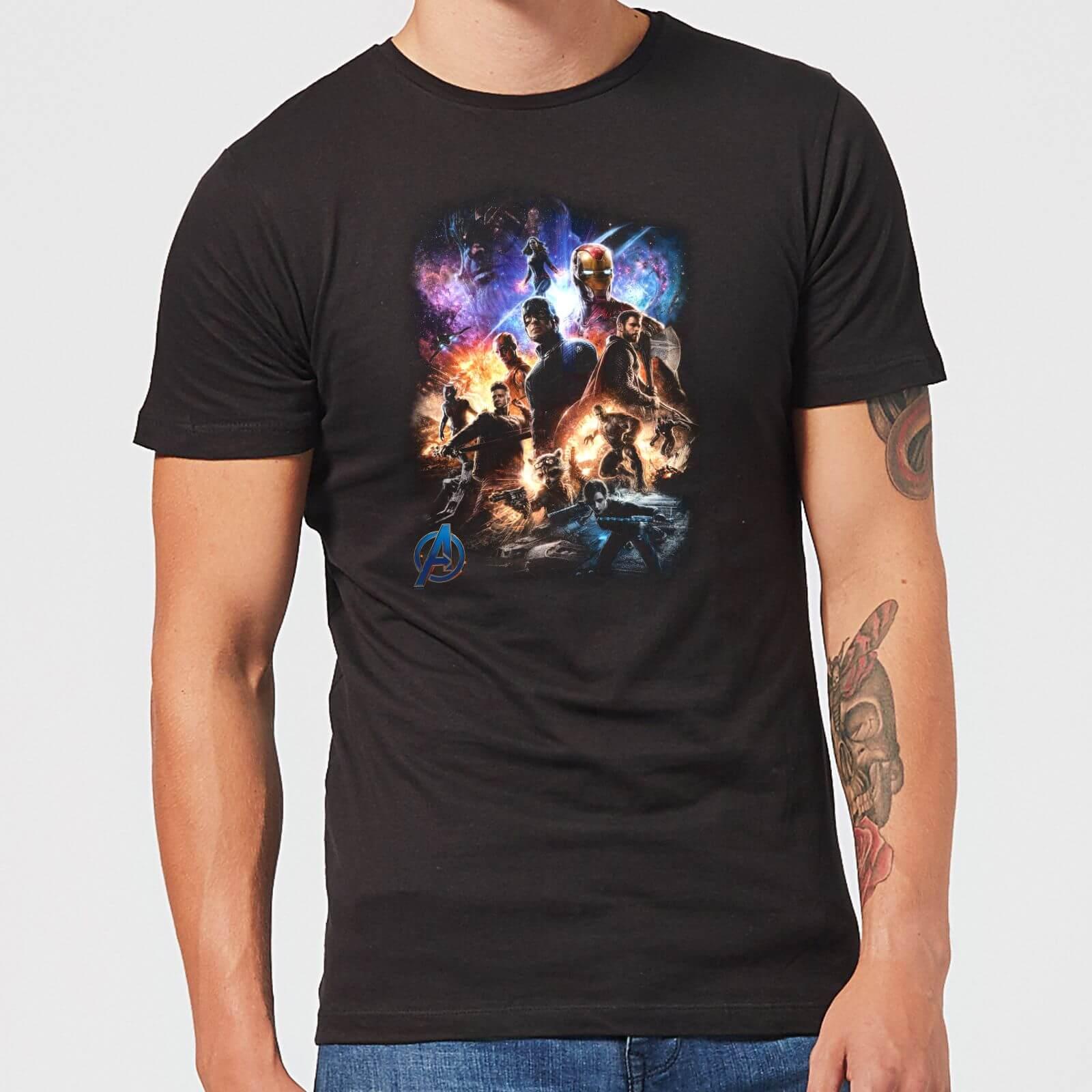 0221aa4d20d Avengers Endgame Character Montage Men's T-Shirt - Black Clothing   Zavvi