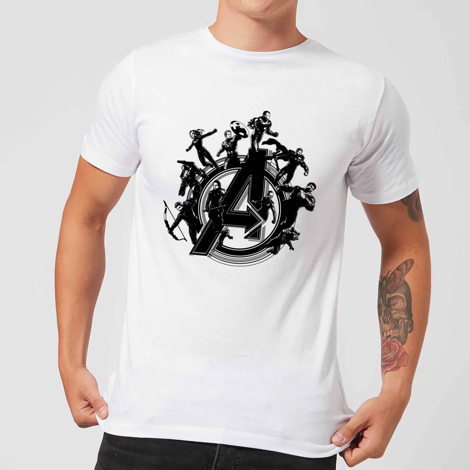 fc813b9c614 Avengers Endgame Hero Circle Men's T-Shirt - White Clothing   Zavvi
