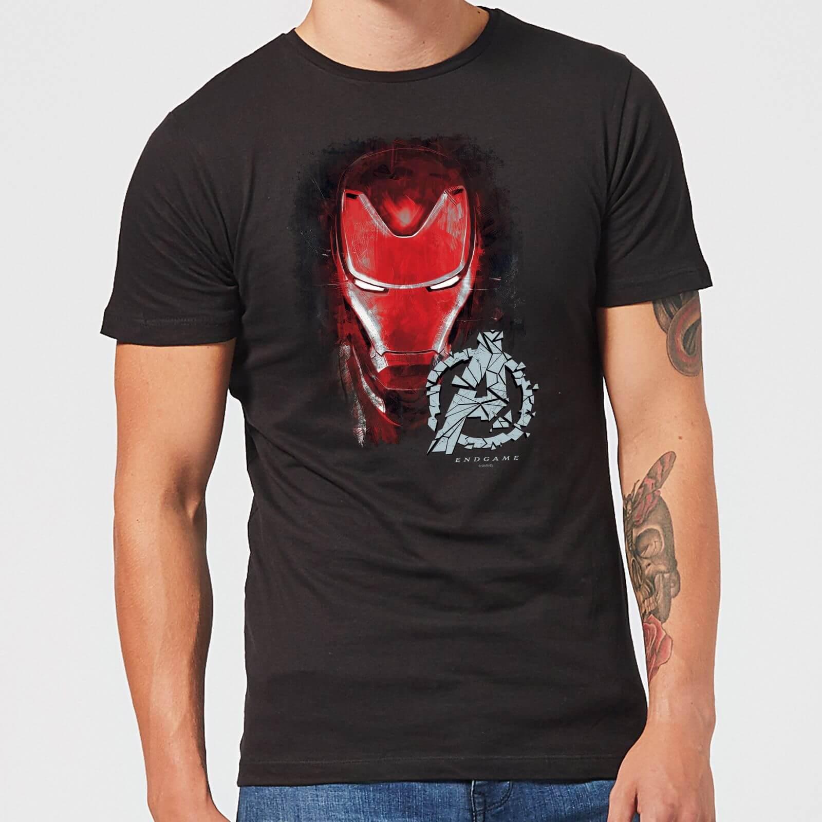 869f5a86c Avengers Endgame Iron Man Brushed Men's T-Shirt - Black Clothing | Zavvi