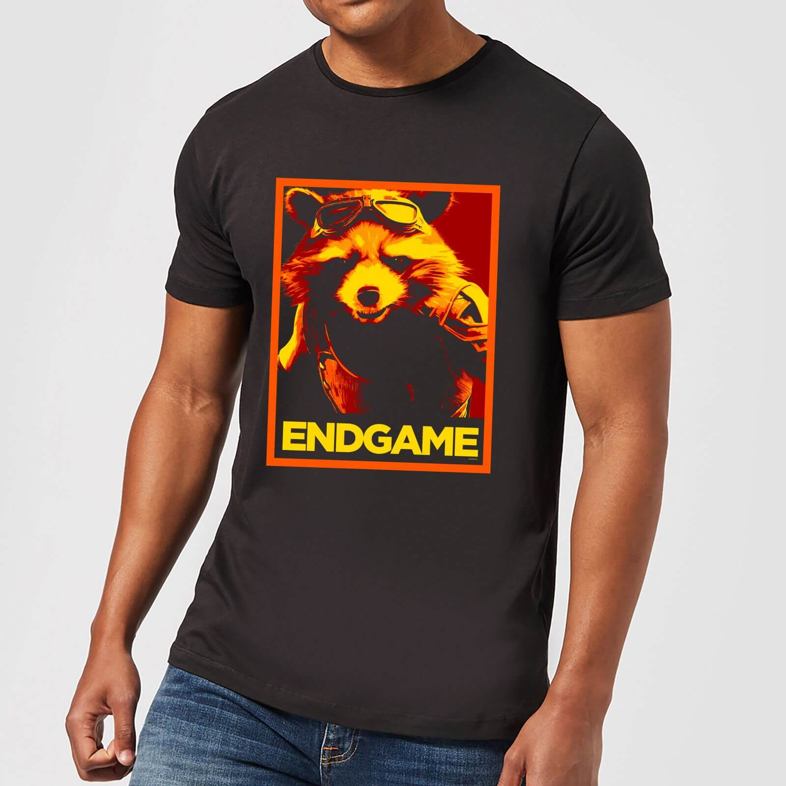 Avengers Endgame Rocket Poster Men S T Shirt Black Clothing Zavvi