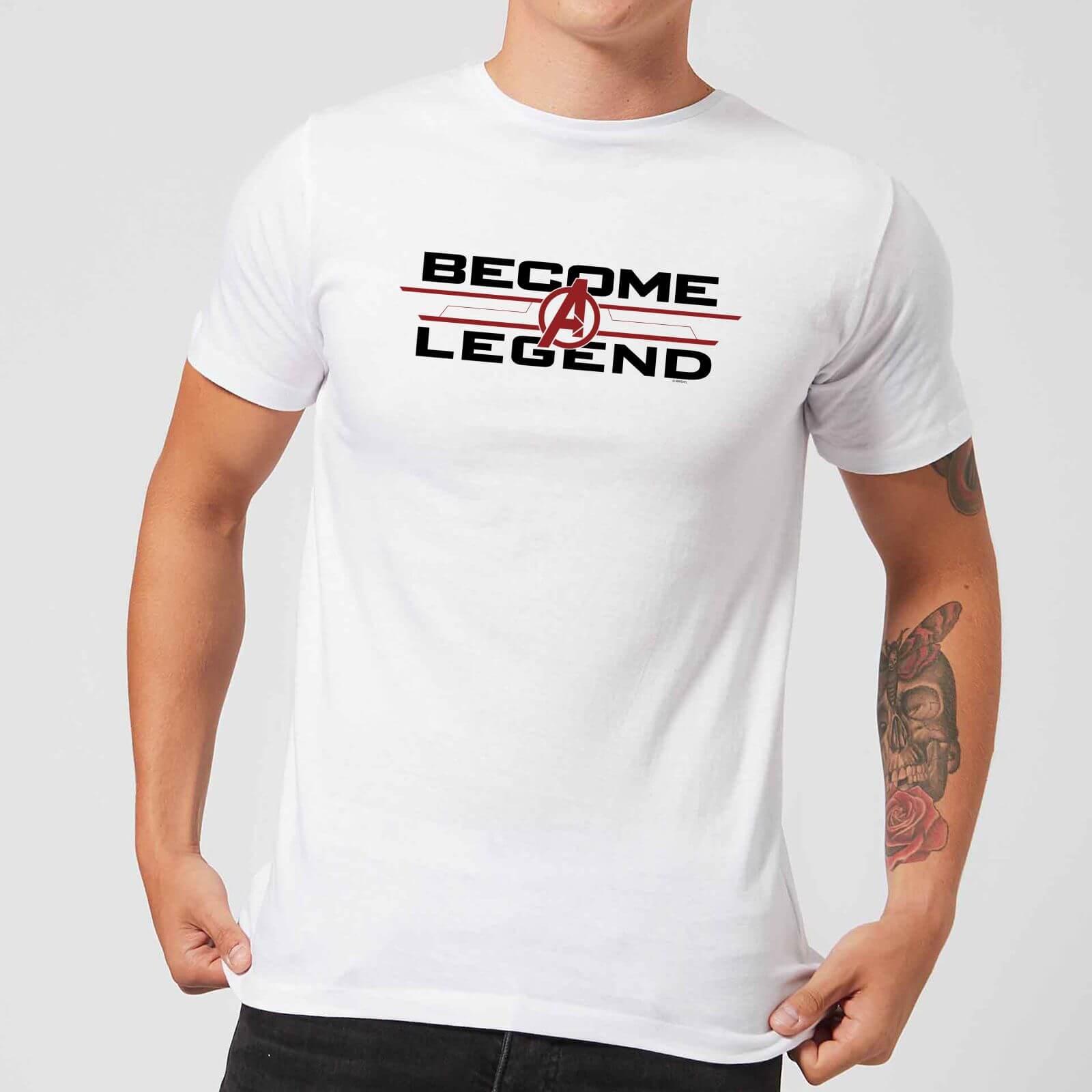 new design shop for luxury clear-cut texture Avengers Endgame Become A Legend Men's T-Shirt - White