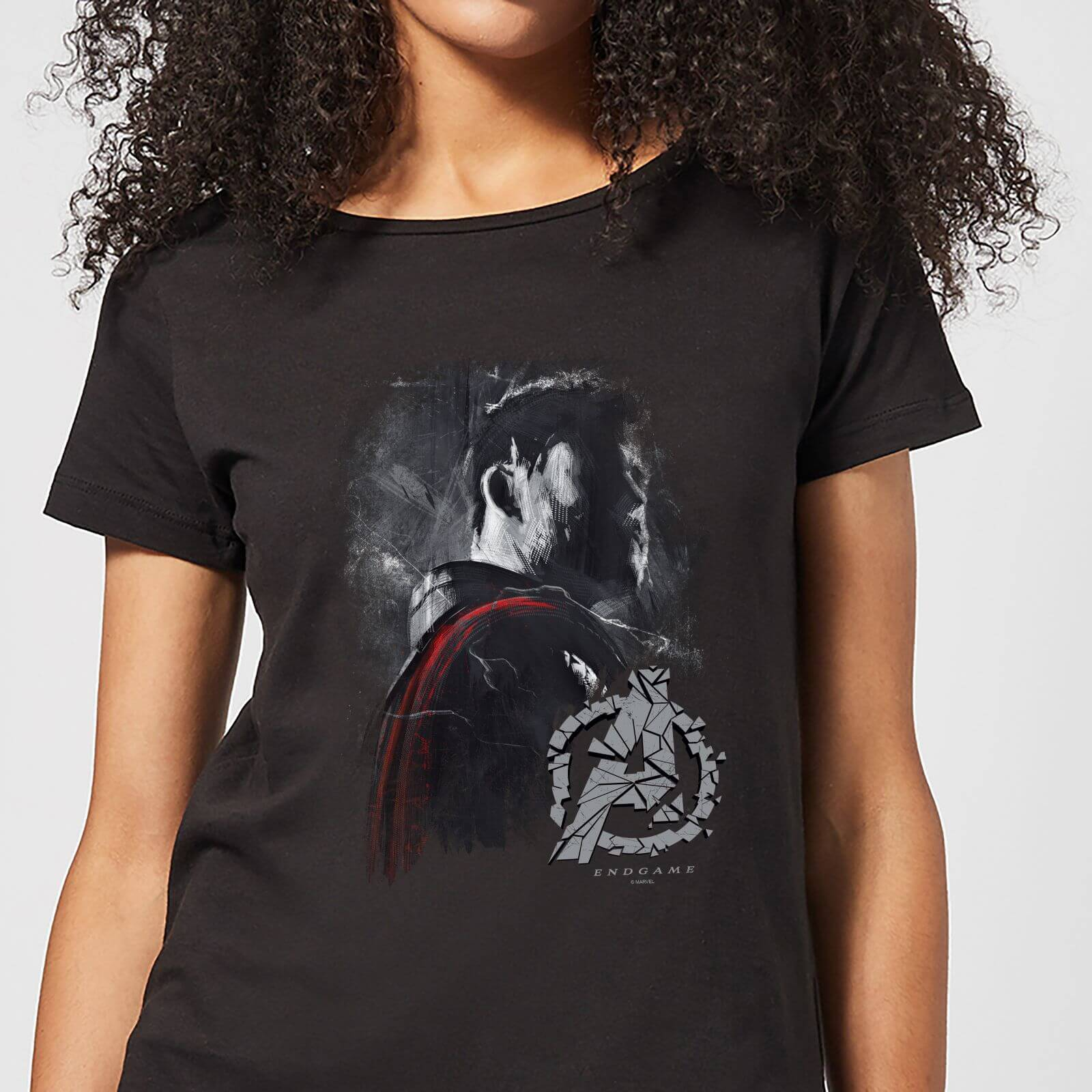 b56535b2d Avengers Endgame Thor Brushed Women's T-Shirt - Black Clothing | Zavvi