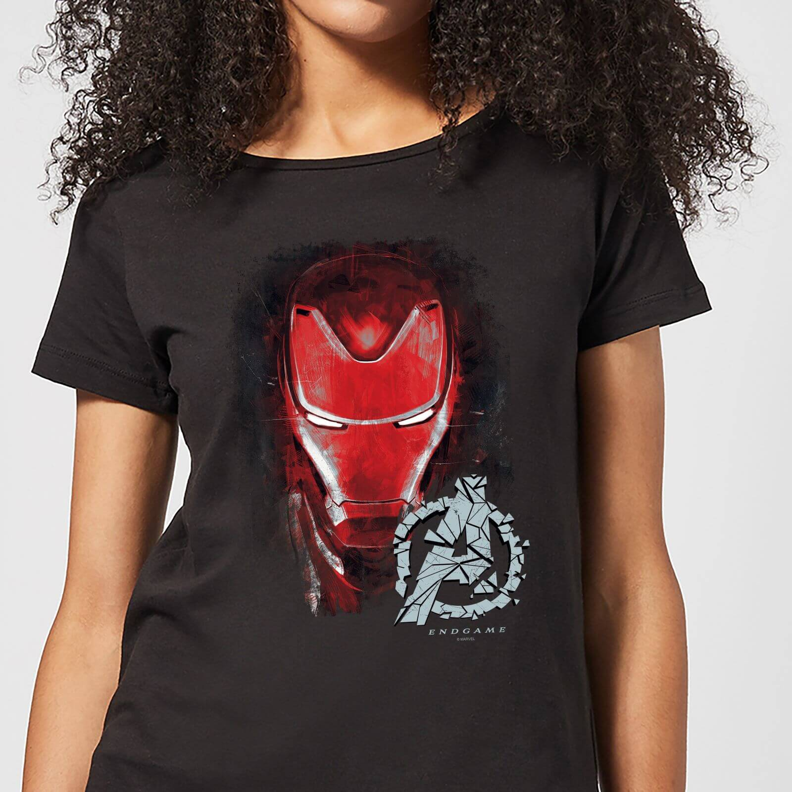 e938c50aa1e Avengers Endgame Iron Man Brushed Women s T-Shirt - Black