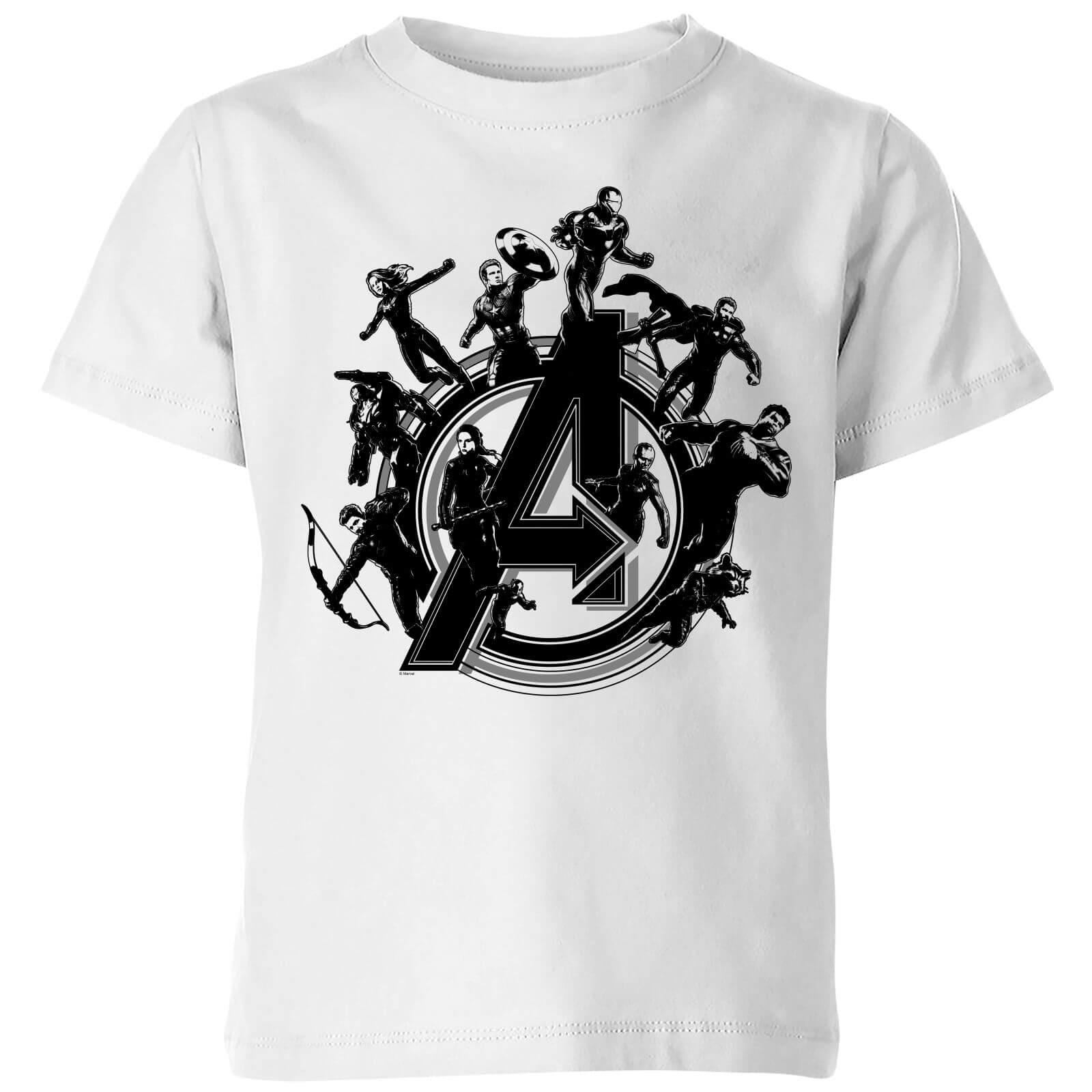 2a98da479010 Avengers Endgame Hero Circle Kids' T-Shirt - White   Pop In A Box US