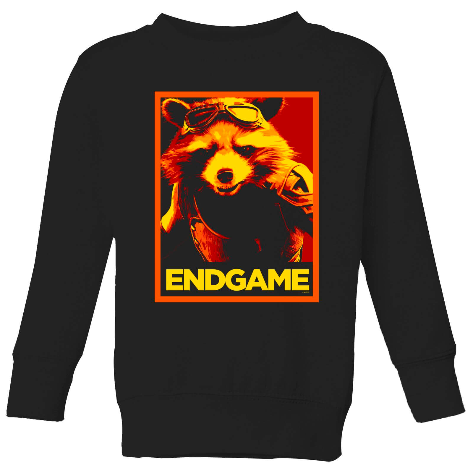 Avengers Endgame Rocket Poster Kids Sweatshirt Black Pop In A