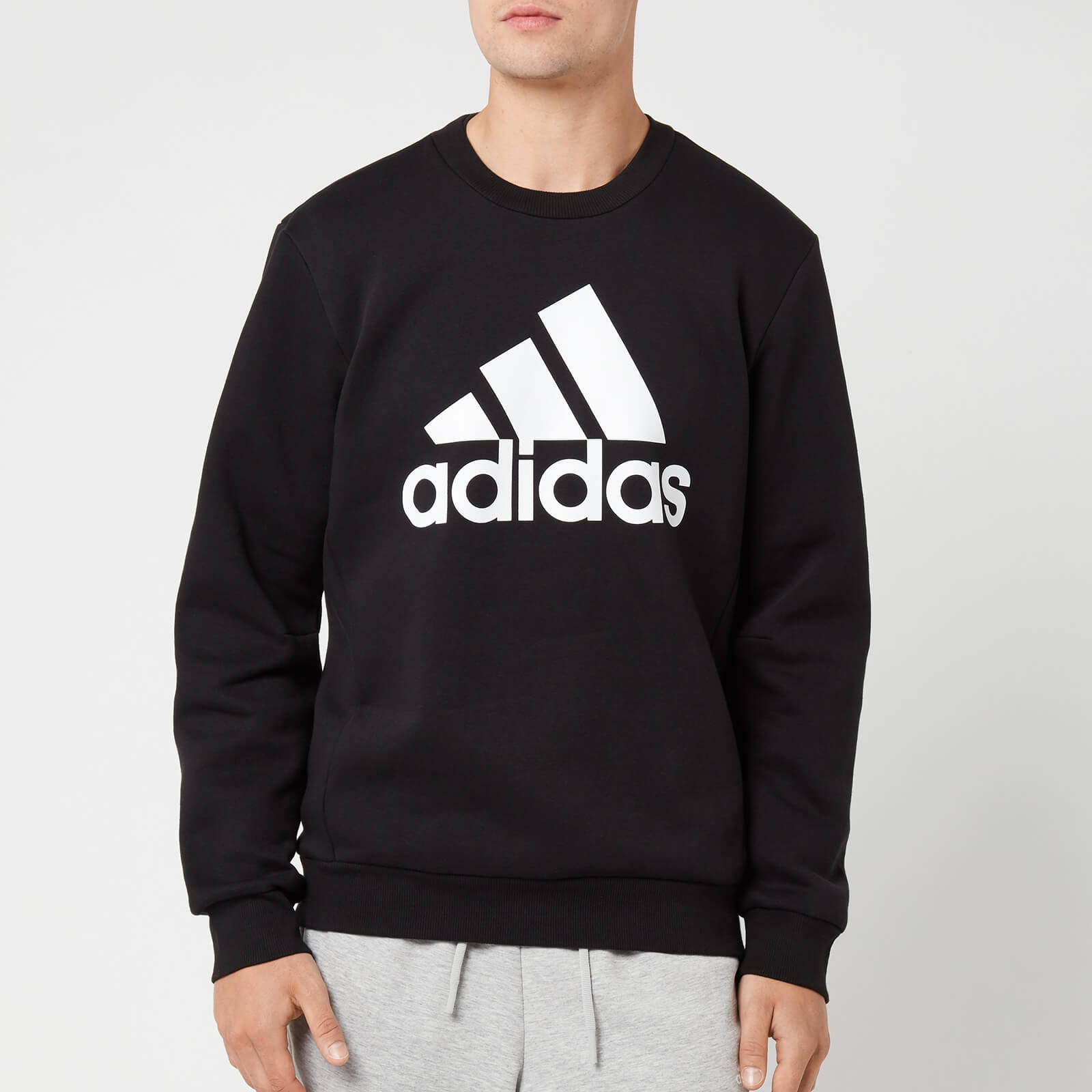 adidas Men's Mh Bos Crew Neck Sweatshirt - Black