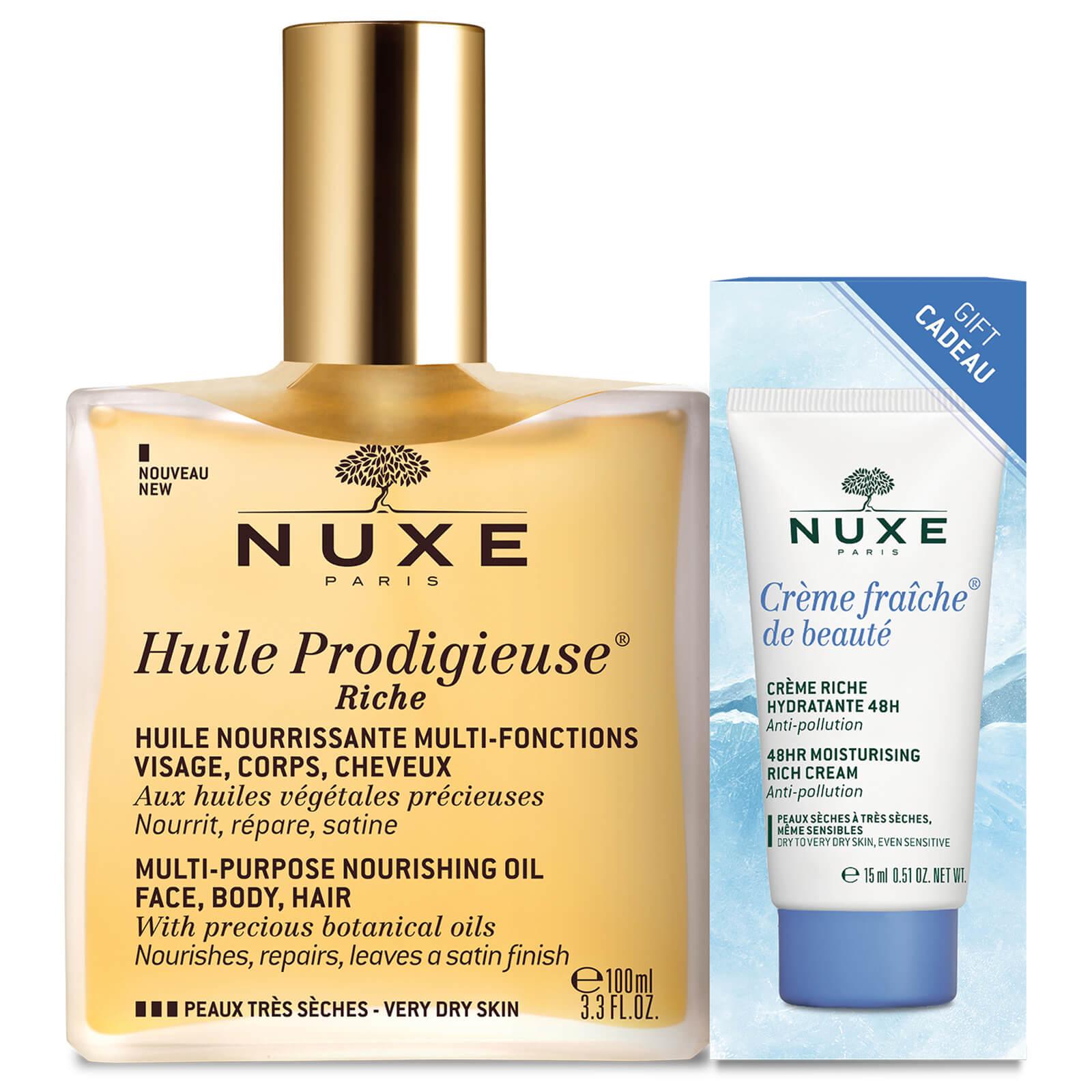 Nuxe Huile Prodigieuse Riche With Crème Fraiche Riche Worth 4075
