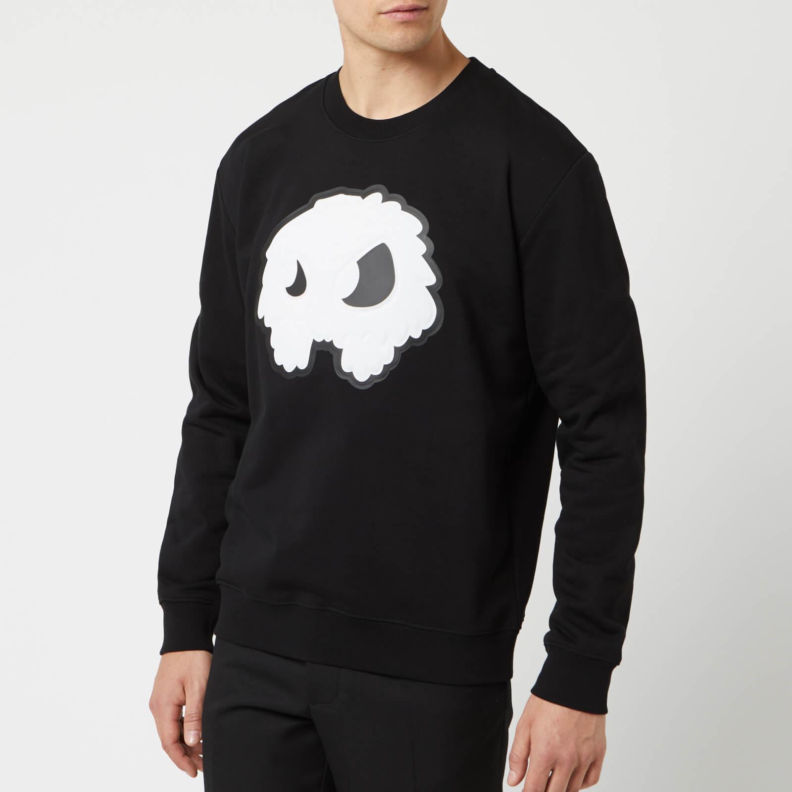 8dd1b0d54eb30 McQ Alexander McQueen Men's Monster Big Crew Neck Sweatshirt - Darkest Black