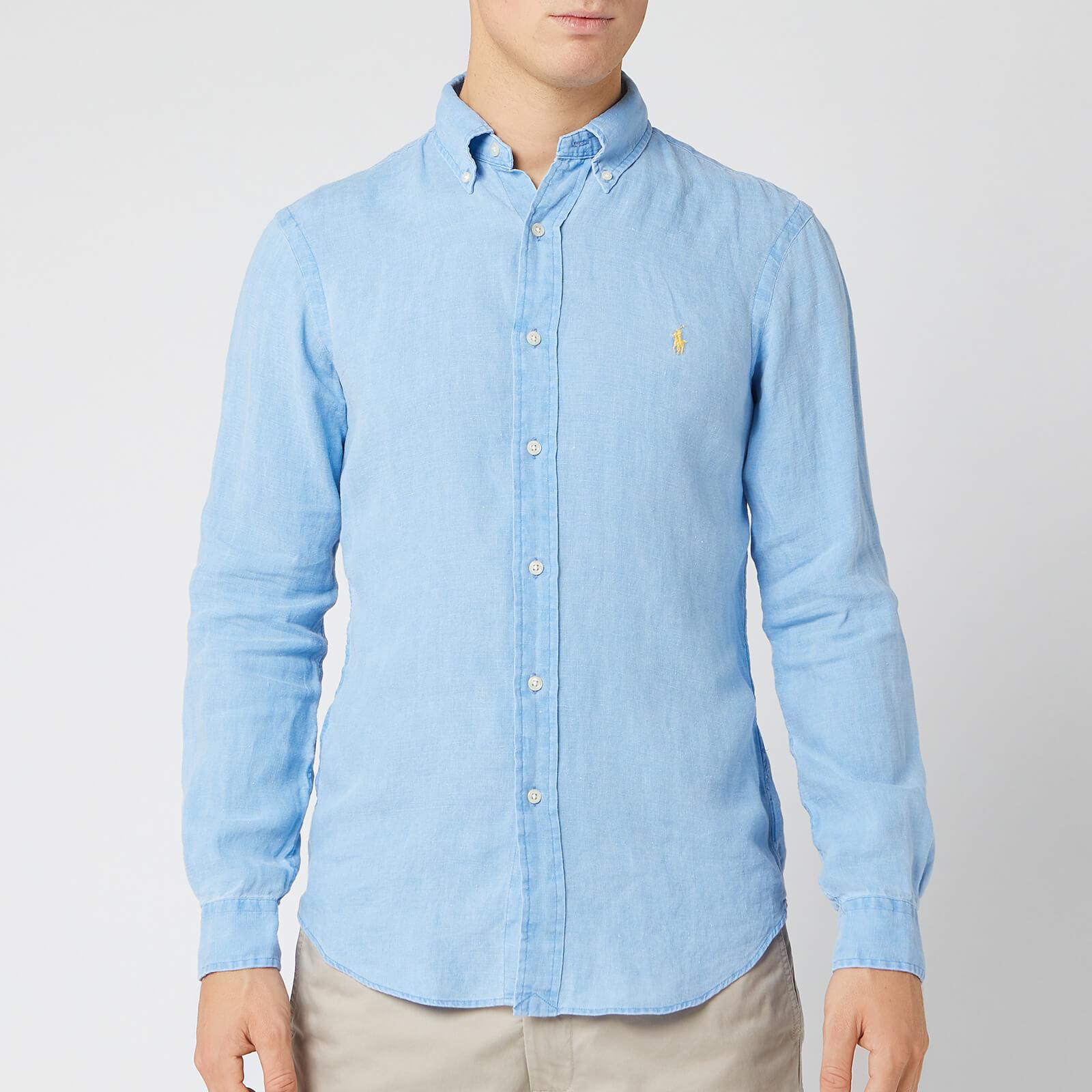 ed80eabfe4 Polo Ralph Lauren Men's Slim Fit Linen Shirt - Riviera Blue