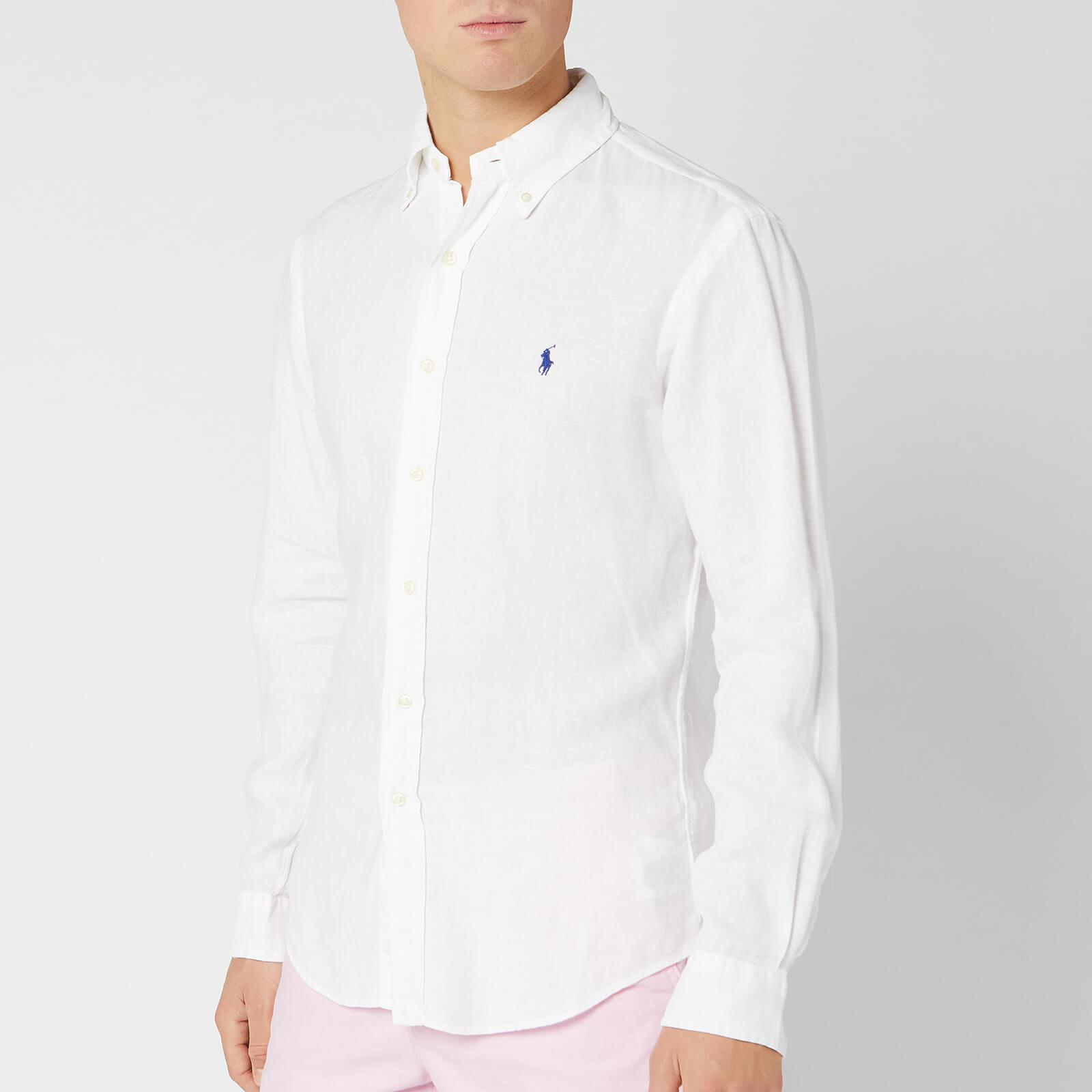 6d02f30897 Polo Ralph Lauren Men's Slim Fit Linen Shirt - Pure White