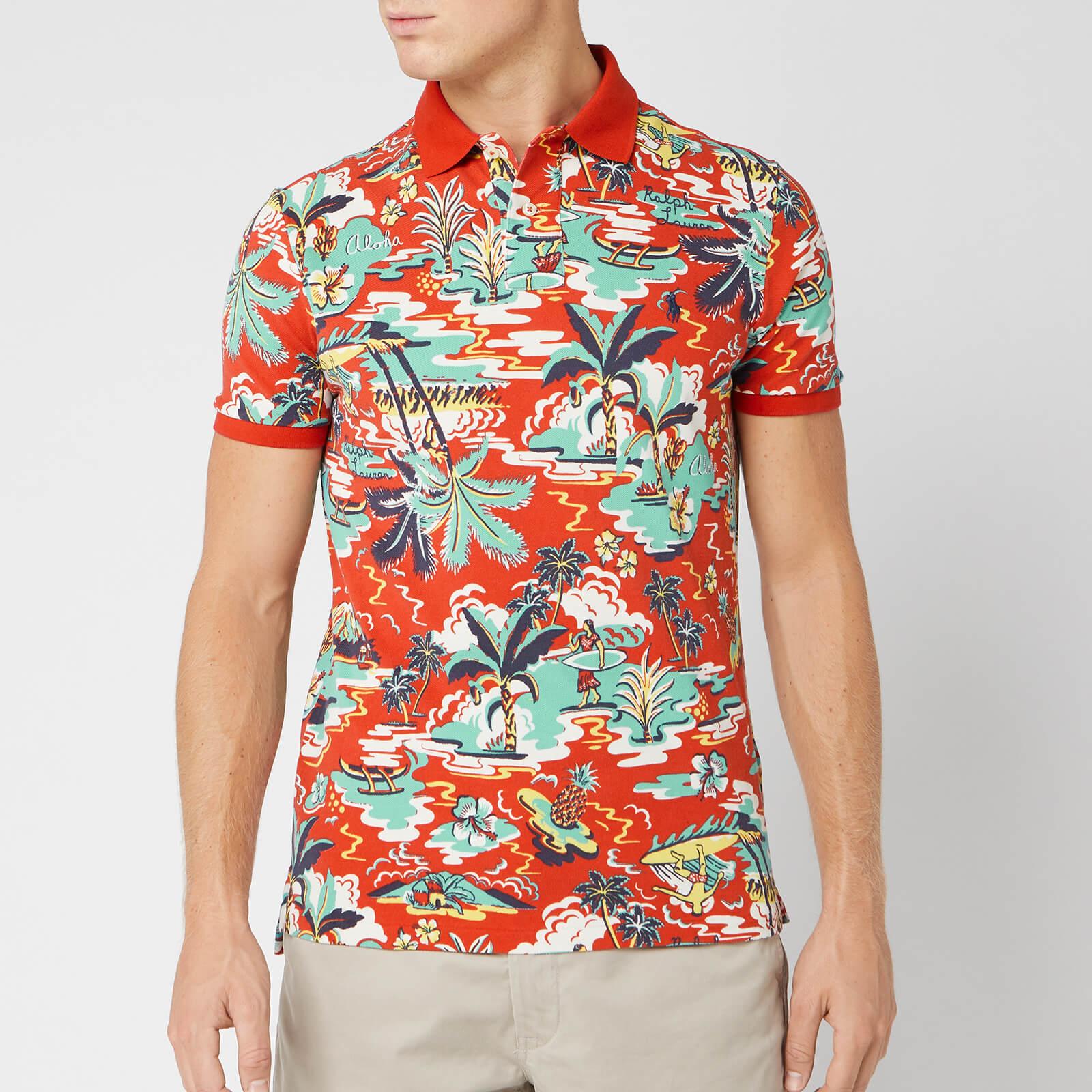 Ralph Men's Mesh Vintage Polo Lauren Palm Shirt Island I6yvgYfb7