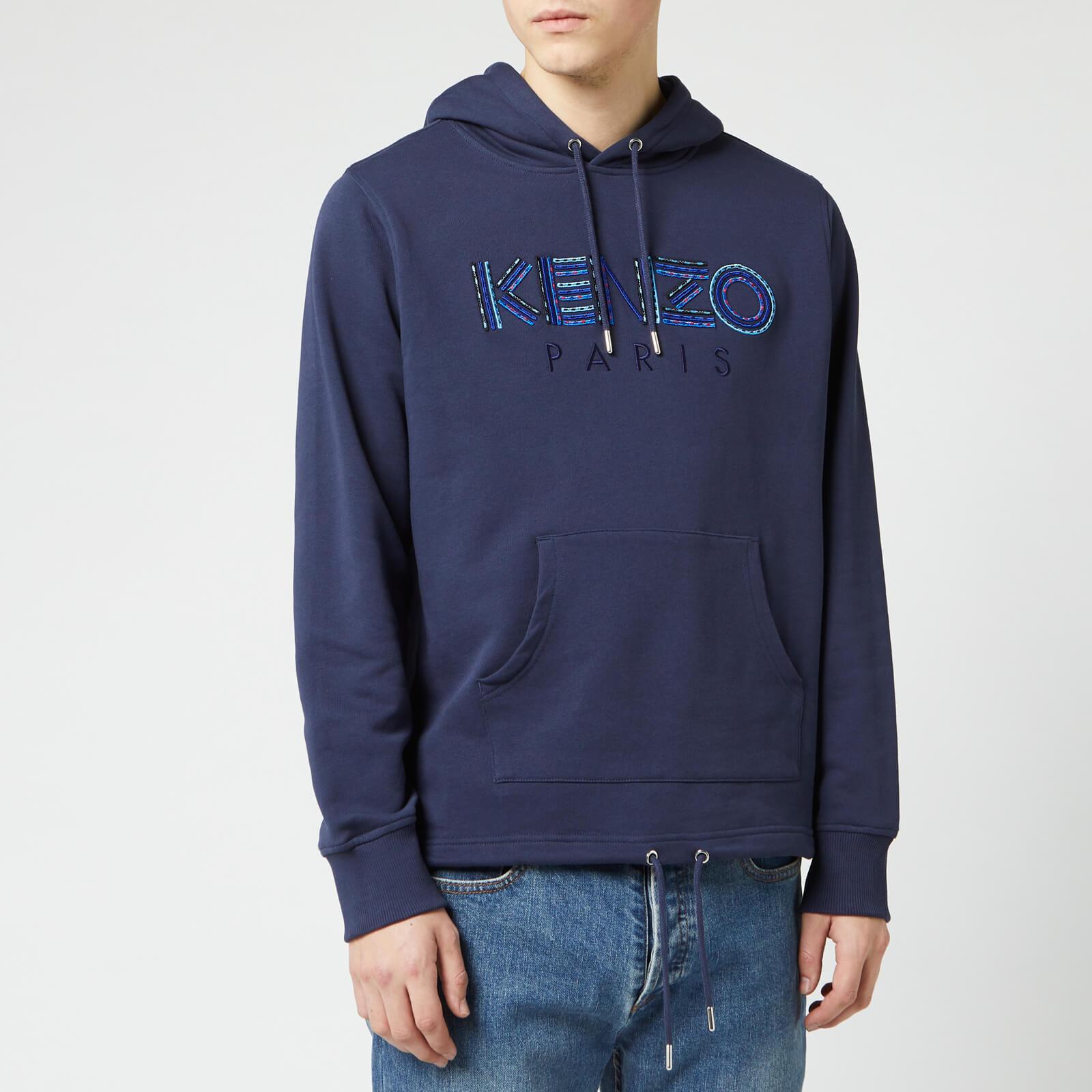 14782504 KENZO Men's Paris Cords Pop Over Hoodie - Ink