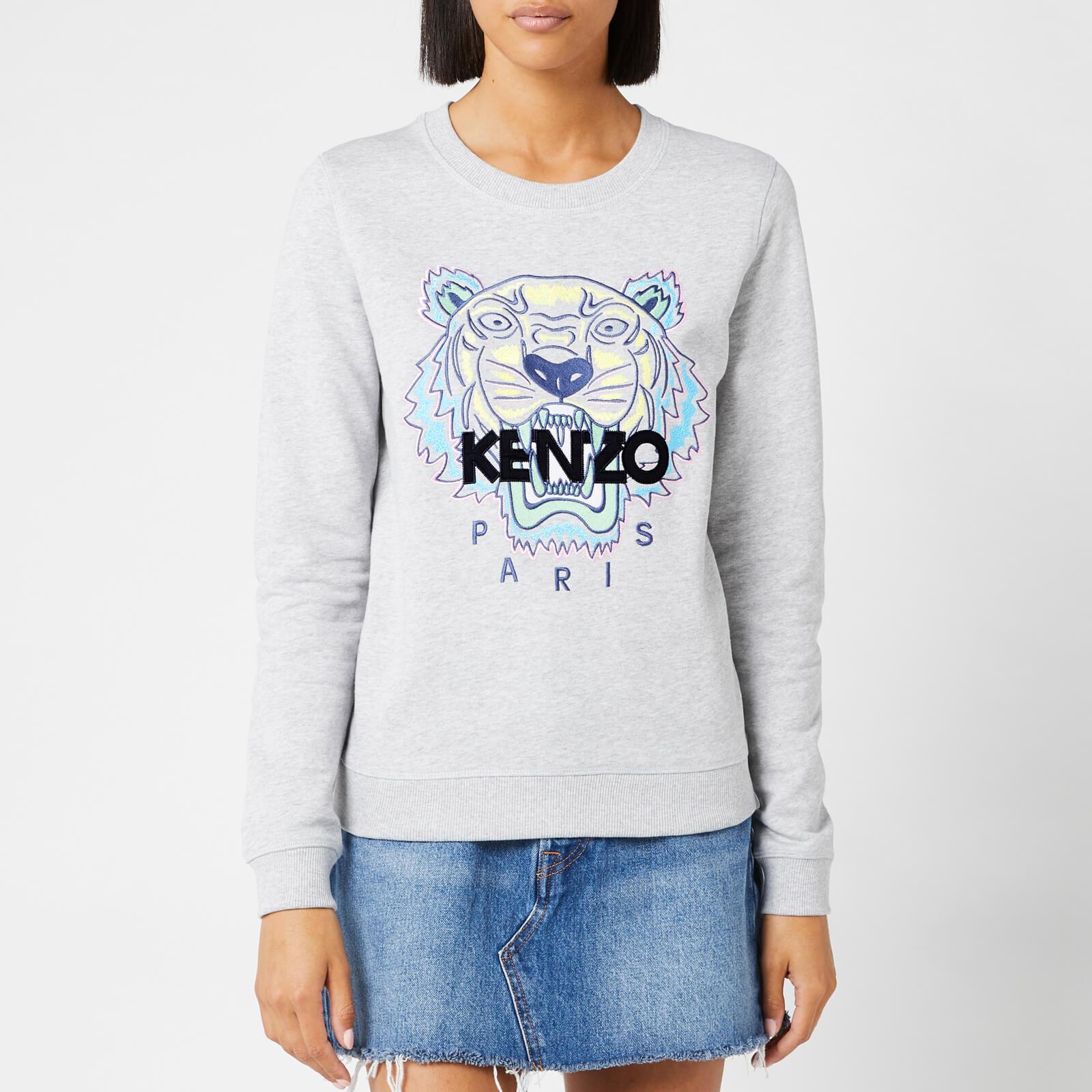 1f4e61050 KENZO Women's Classic Tiger Light Moleton Sweatshirt - Pearl Grey - Free UK  Delivery over £50