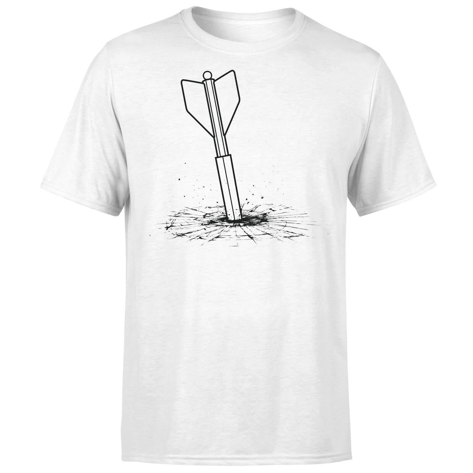 a9b94e9b How Ridiculous Giant Dart Vs. Bulletproof Glass Men's T-Shirt - White