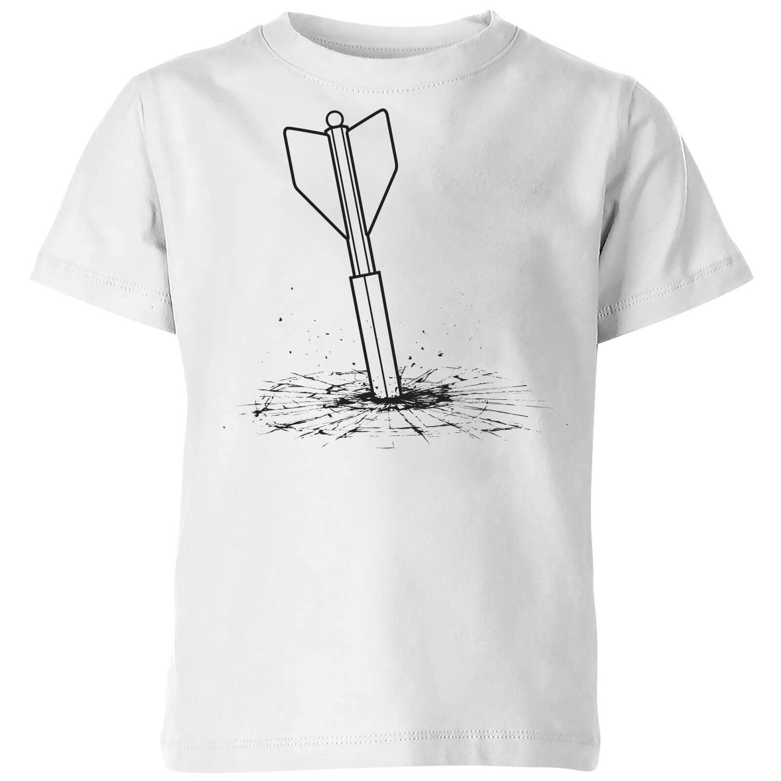 1acd279c How Ridiculous Giant Dart Vs. Bulletproof Glass Kids' T-Shirt - White