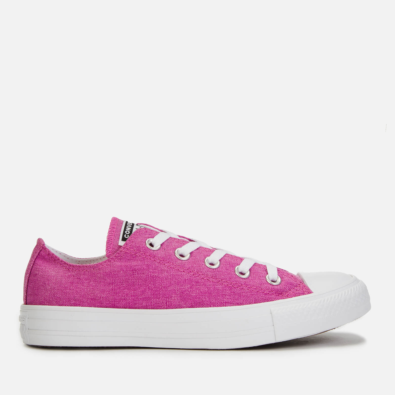 Converse Women's Chuck Taylor All Star Court Fade Ox Trainers - Active Fuchsia/White/White - UK 4 - Pink