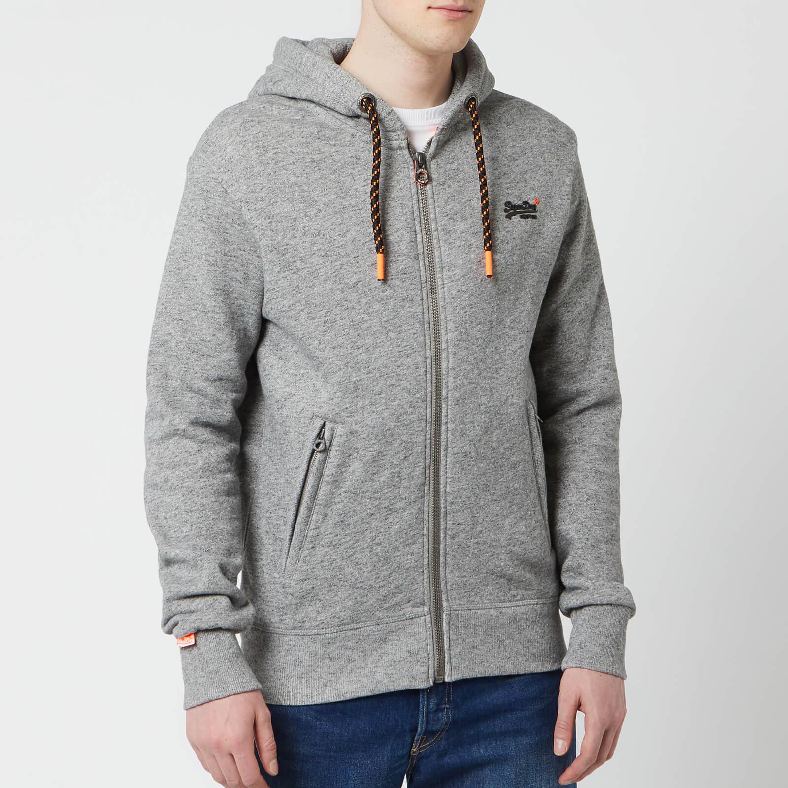 429af3a9df47 Superdry Men's Orange Label Hyper Pop Zip Hoody - Portland Charcoal Grit  Mens Clothing   TheHut.com