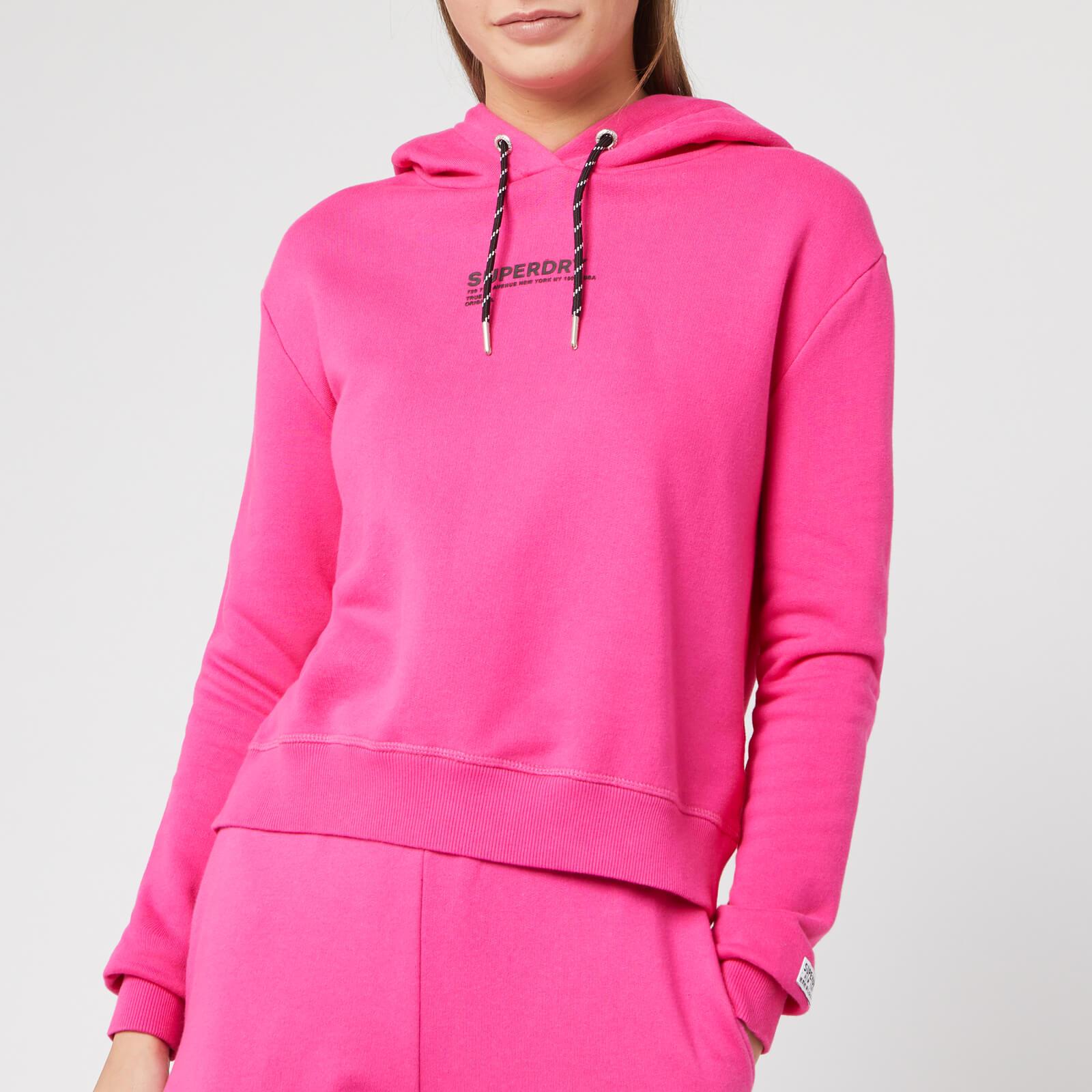 Superdry Women's Elissa Cropped Hoodie Sienna Pink